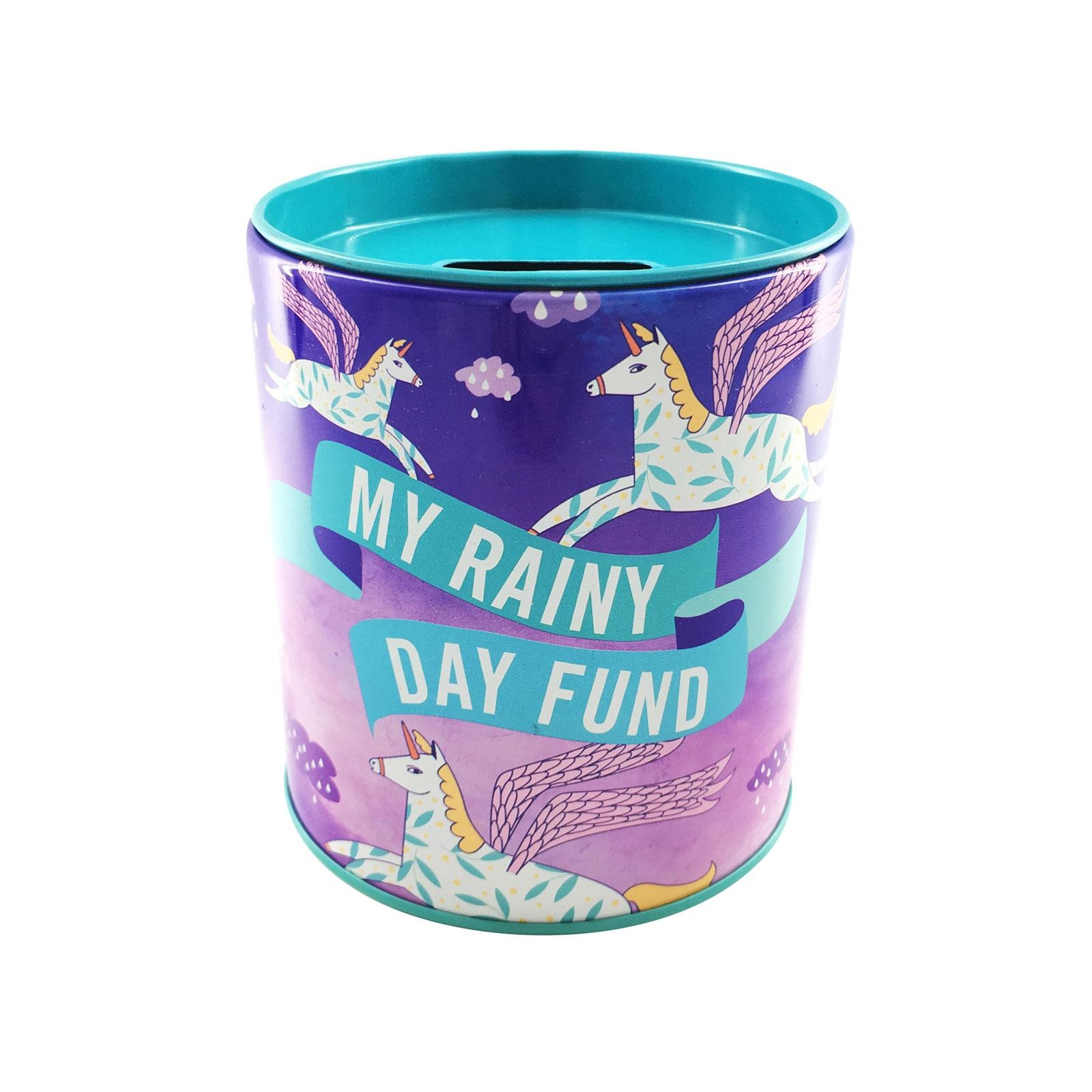 The Paper Stone Savings Coin Tins - Rainy Day Unicorns