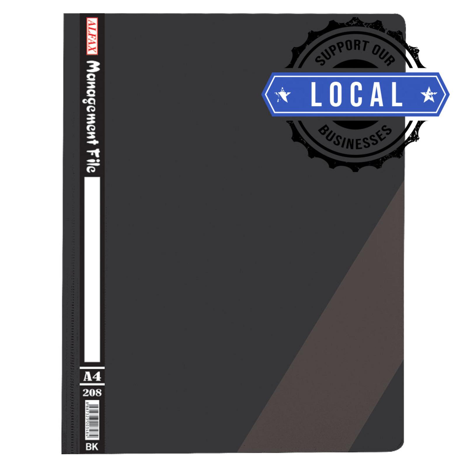 ALFAX 208 Management File A4 Black