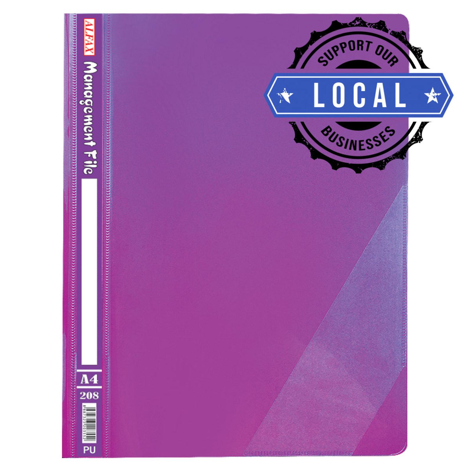 ALFAX 208 Management File A4 Purple