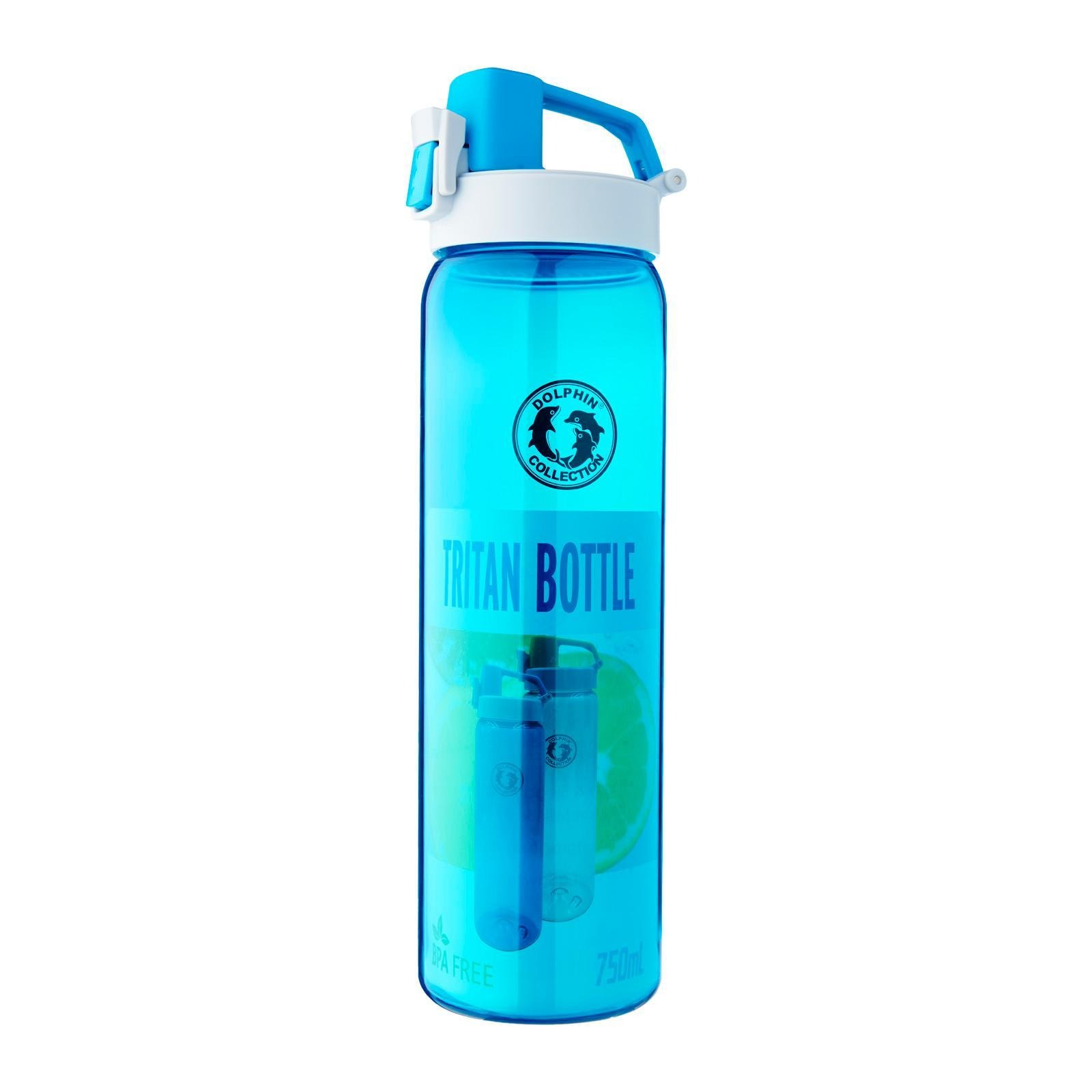 Dolphin Collection Tritan Water Bottle 750 ML (Blue)