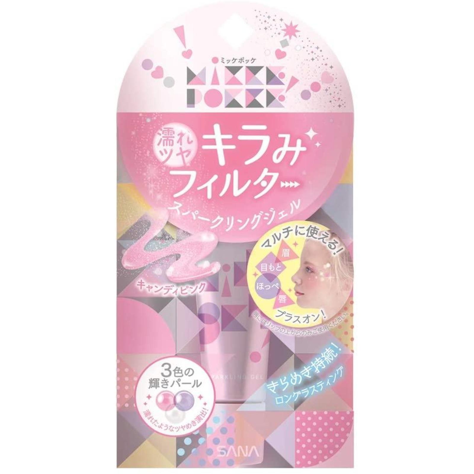 SANA MikkePokke Sparking Gel 01 Candy Pink