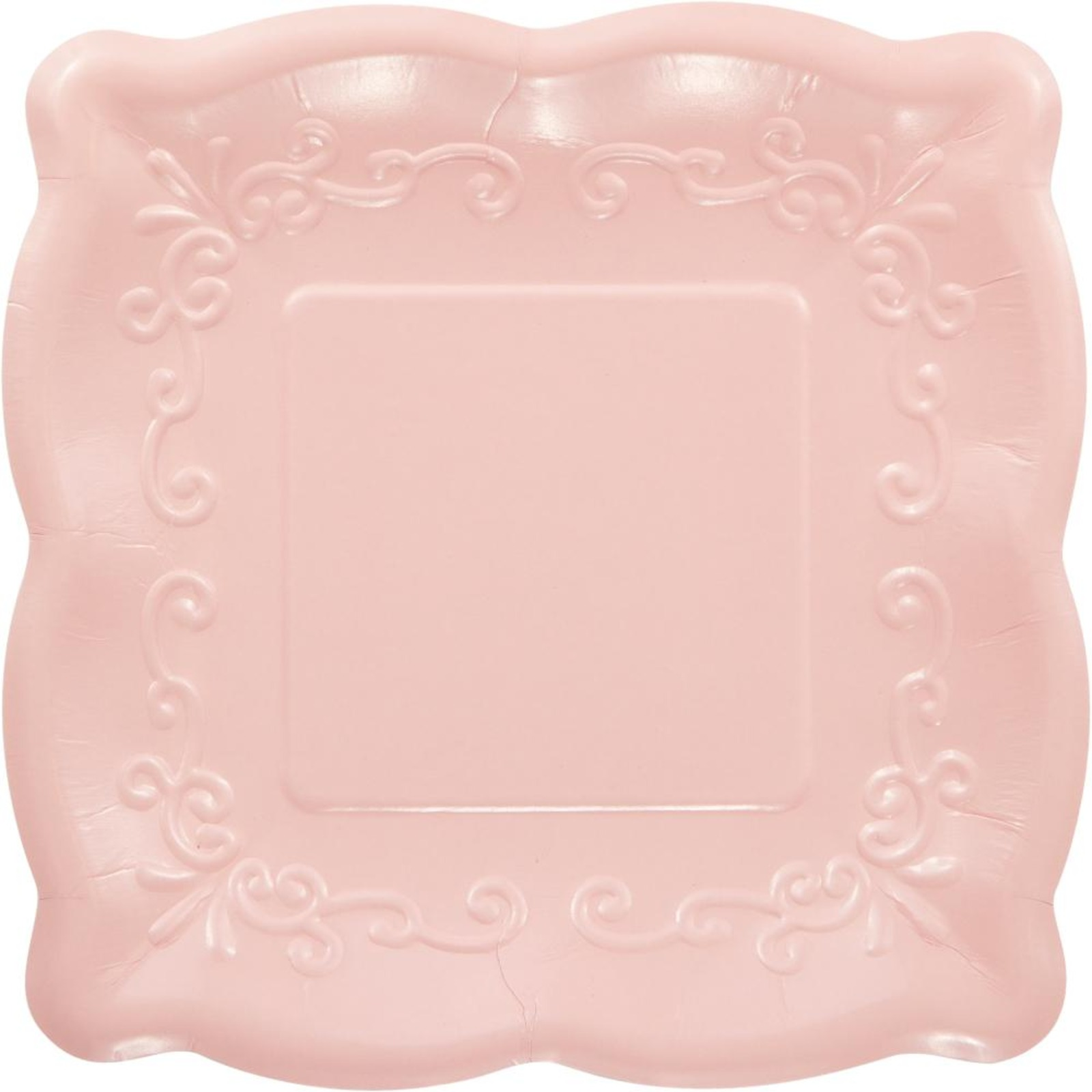 Creative Converting Pink 7 Inch Embossed Square Plates