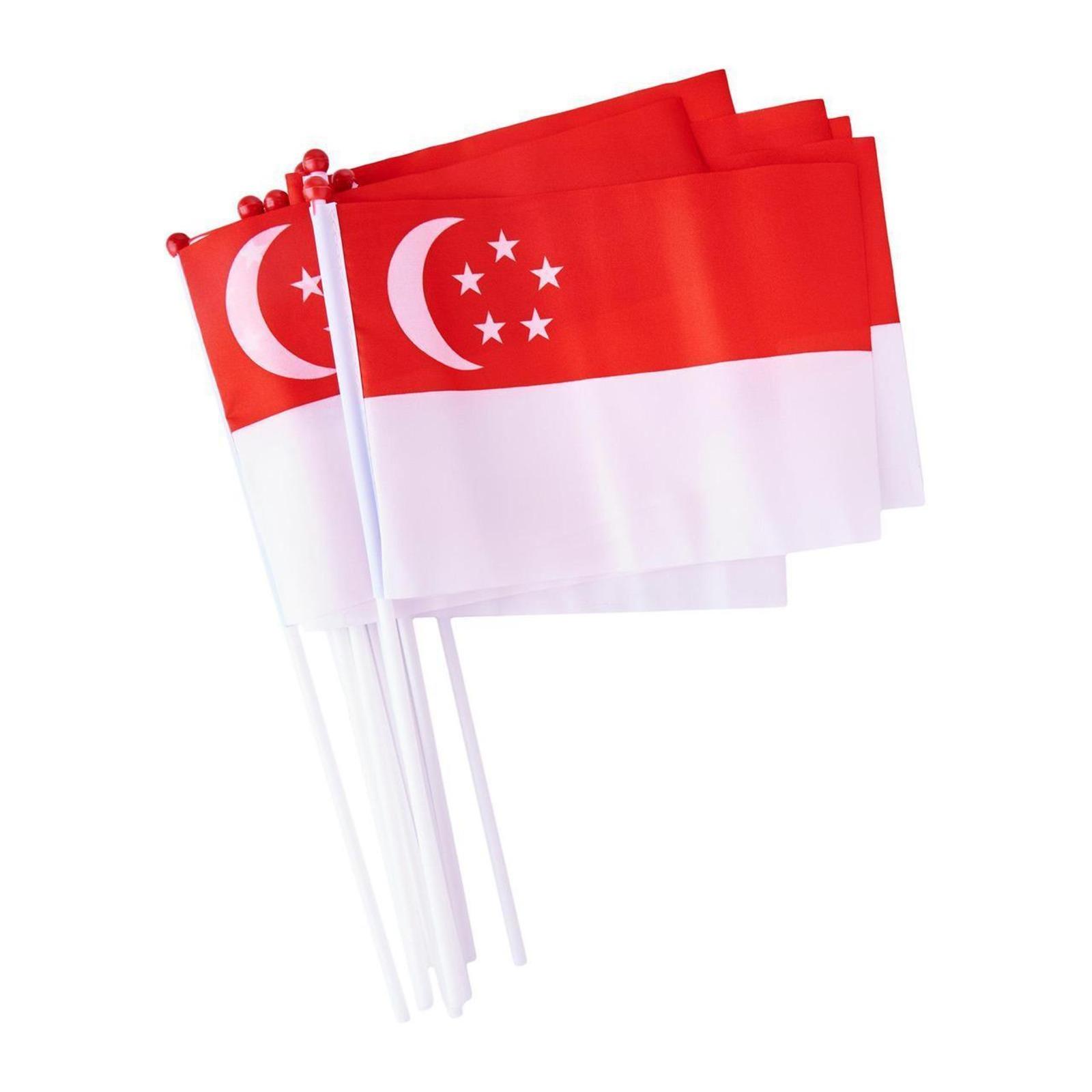 MTRADE 30cm Singapore Hand Flag