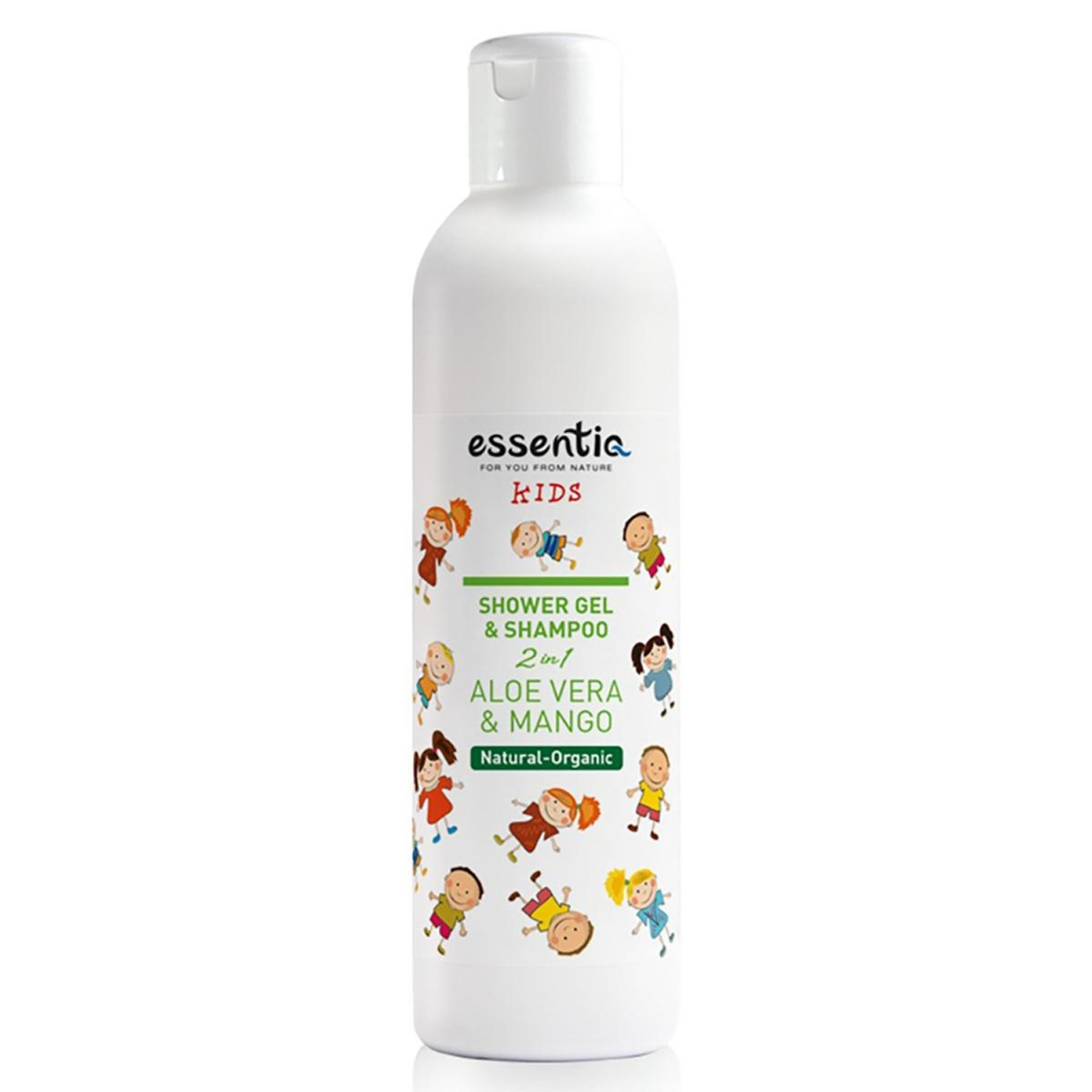 Essentiq Shower Gel and Shampoo Kids 2 in 1 Aloe Vera & Mango