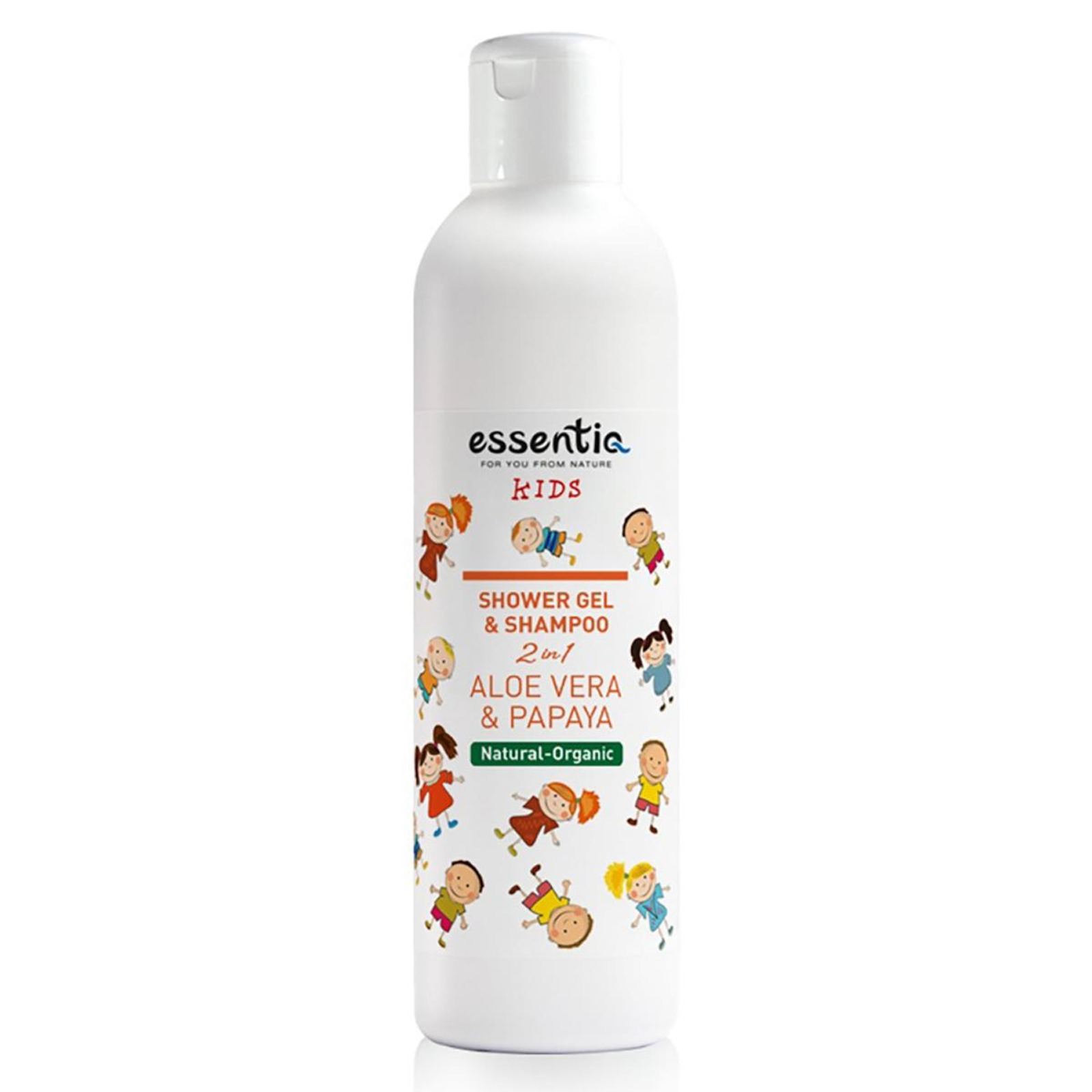 Essentiq Shower Gel and Shampoo Kids 2 in 1 Aloe Vera & Papay