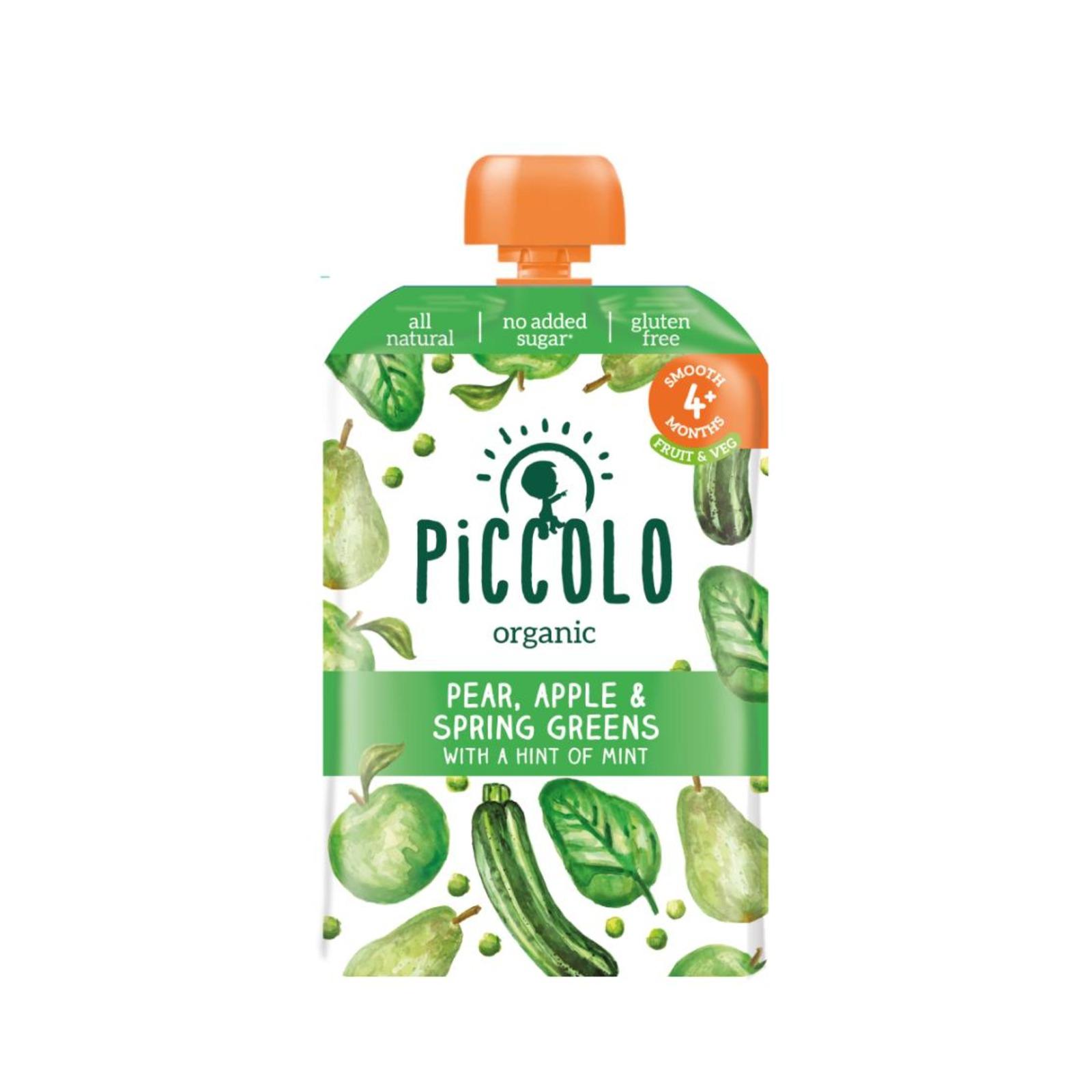 Piccolo Organic Pear, Apple & Spring Greens