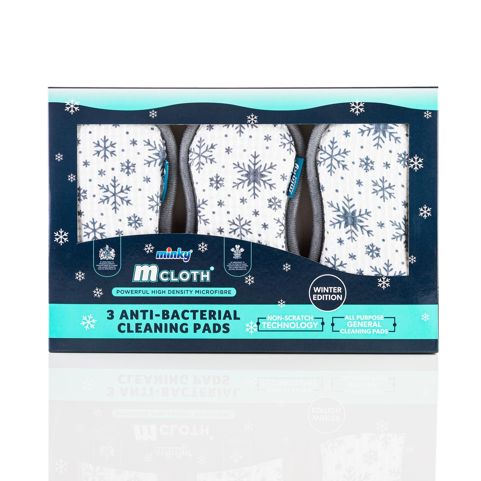 Minky Homecare 3 Pack Dual Side Cleaning Pad - Snowflake