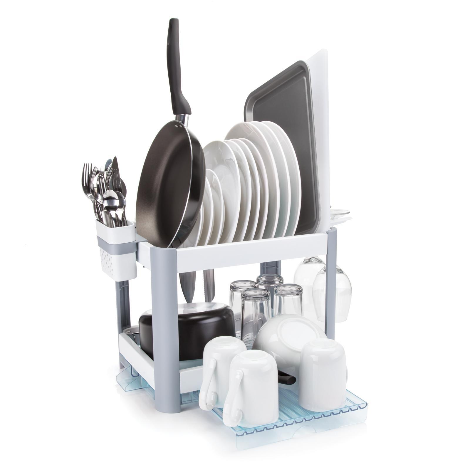Minky Homecare Minky Twin Tier Extending Dish Drying Rack