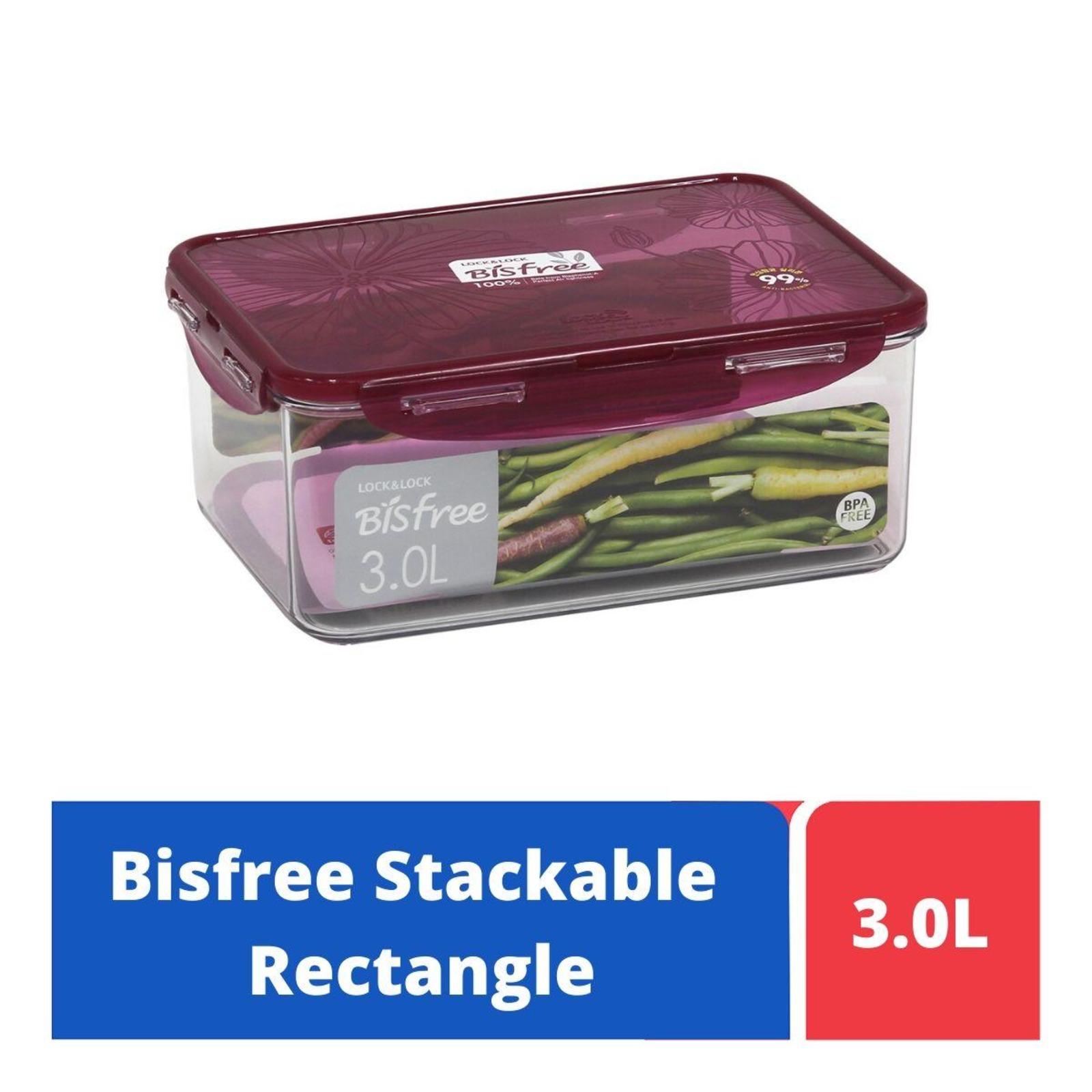LOCK&LOCK Bisfree Food Container 3L - Red