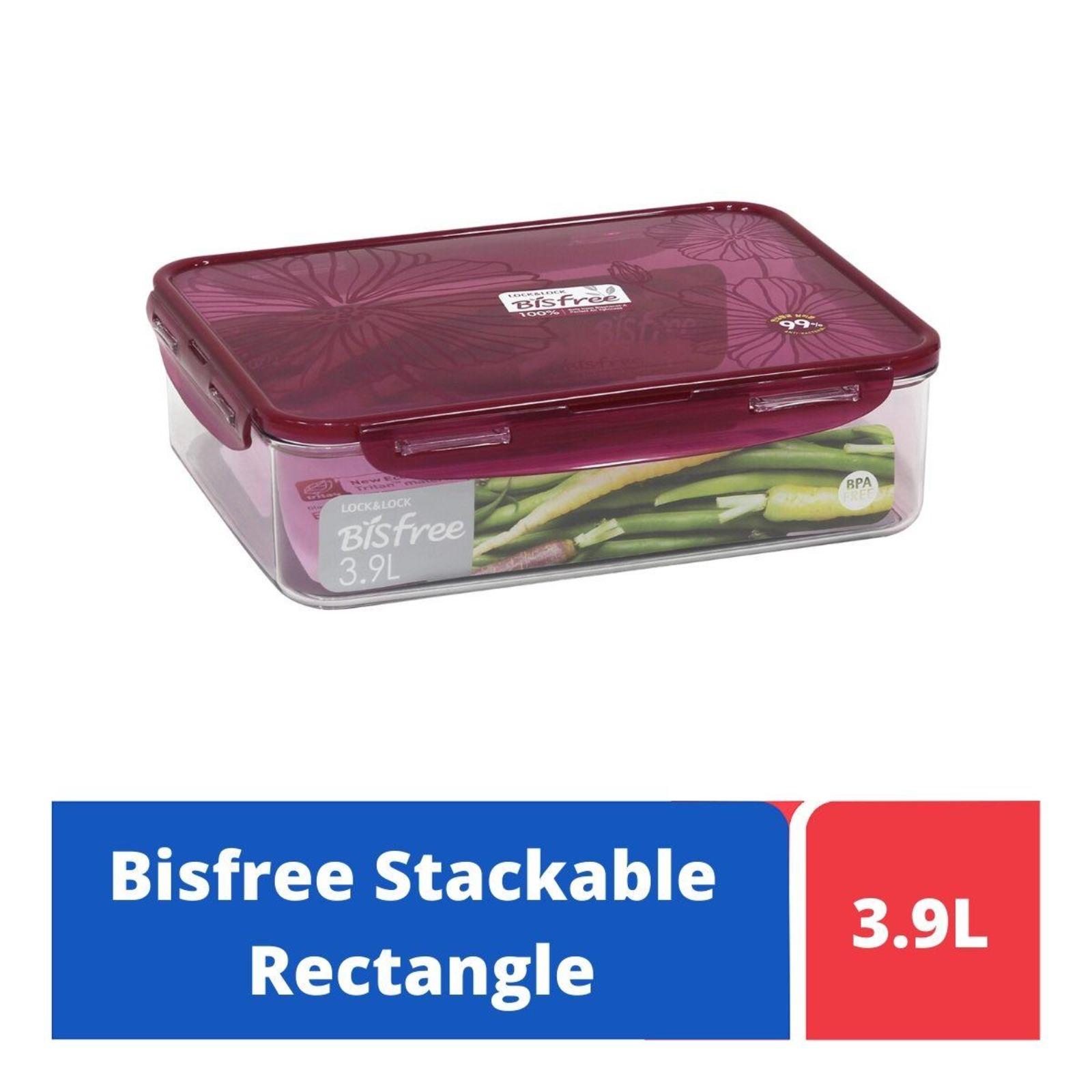 LOCK&LOCK Bisfree Food Container 3.9L - Red