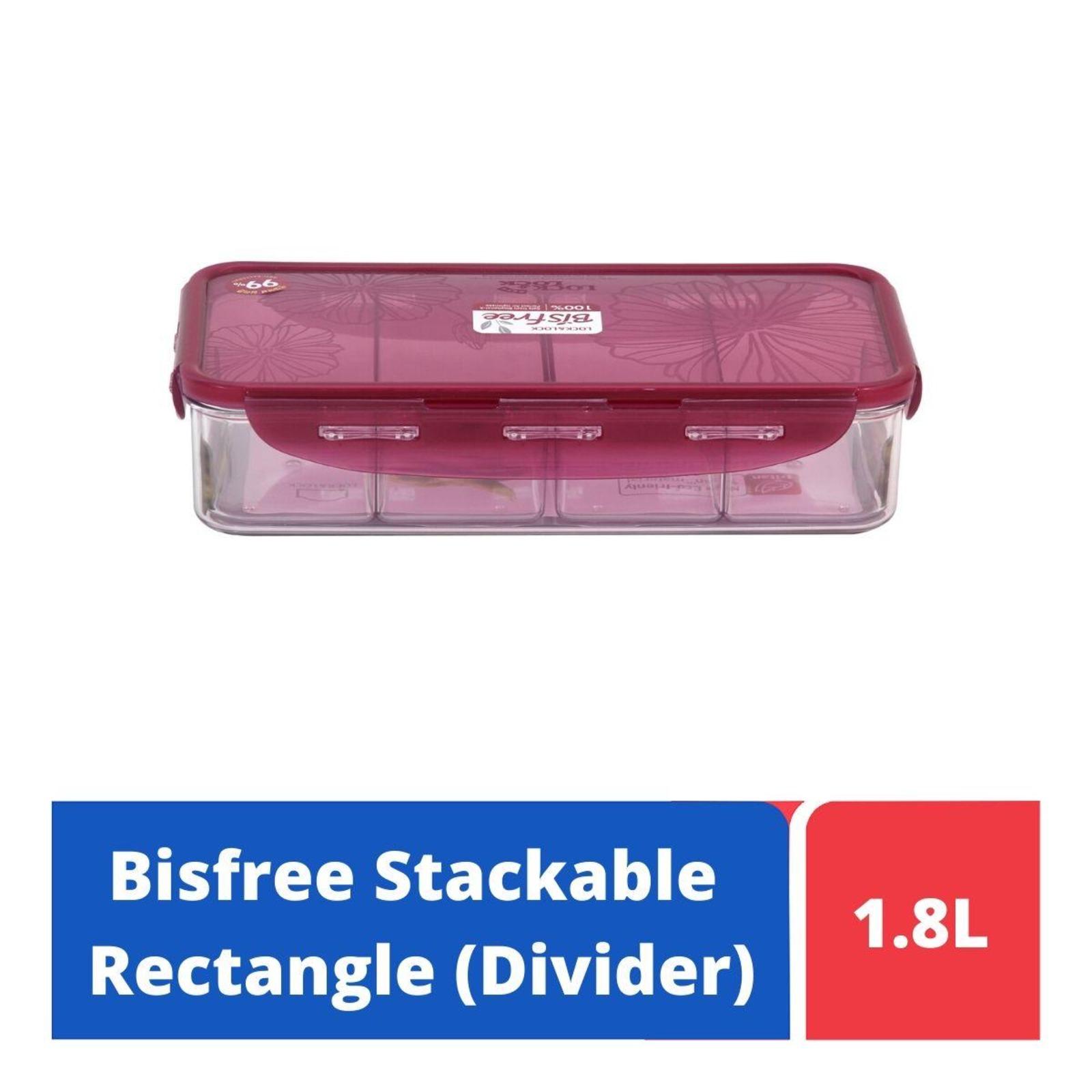 Lock & Lock Rectangular Classic Food Container 3.9L With Divider