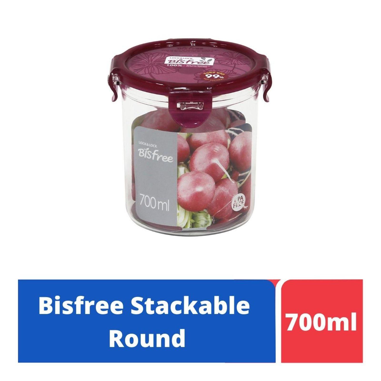 LOCK&LOCK Bisfree Round Food Container 700ml -Red