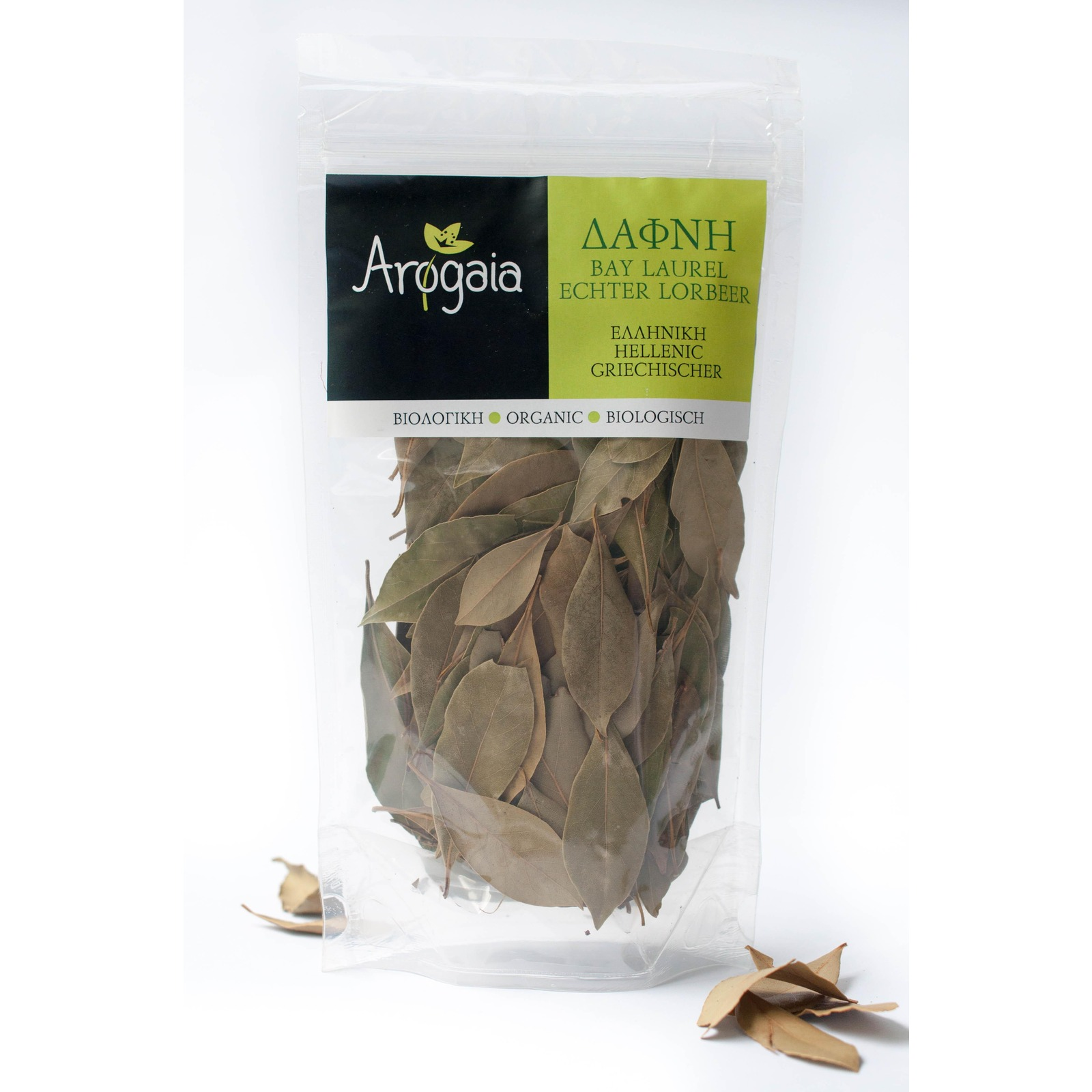 Arogaia Organic Greek Bay Leaves In A Re-Sealable Bag - By Agora Products