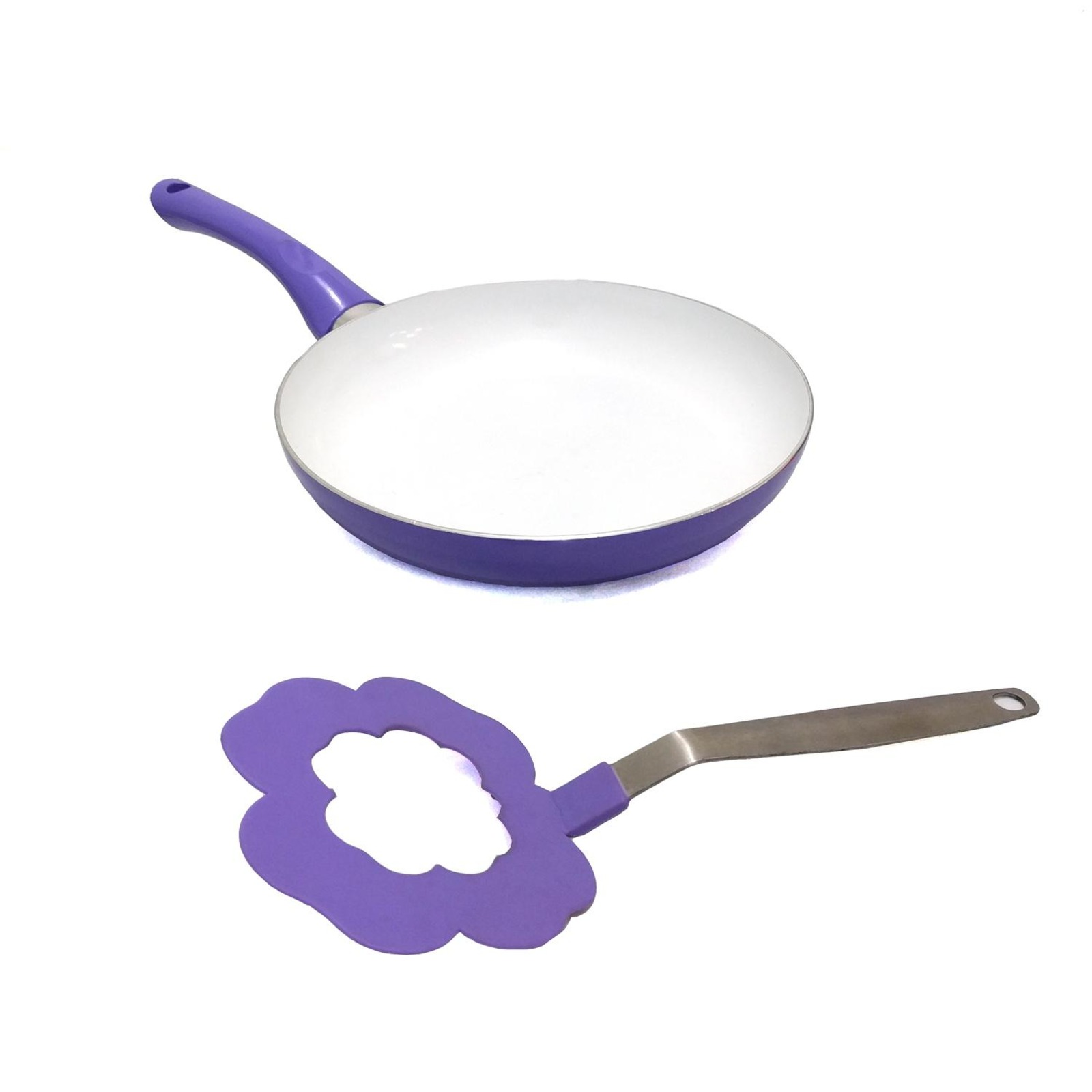 Amark Chef Delight Floral Non-Stick Ceramic Frying Pan