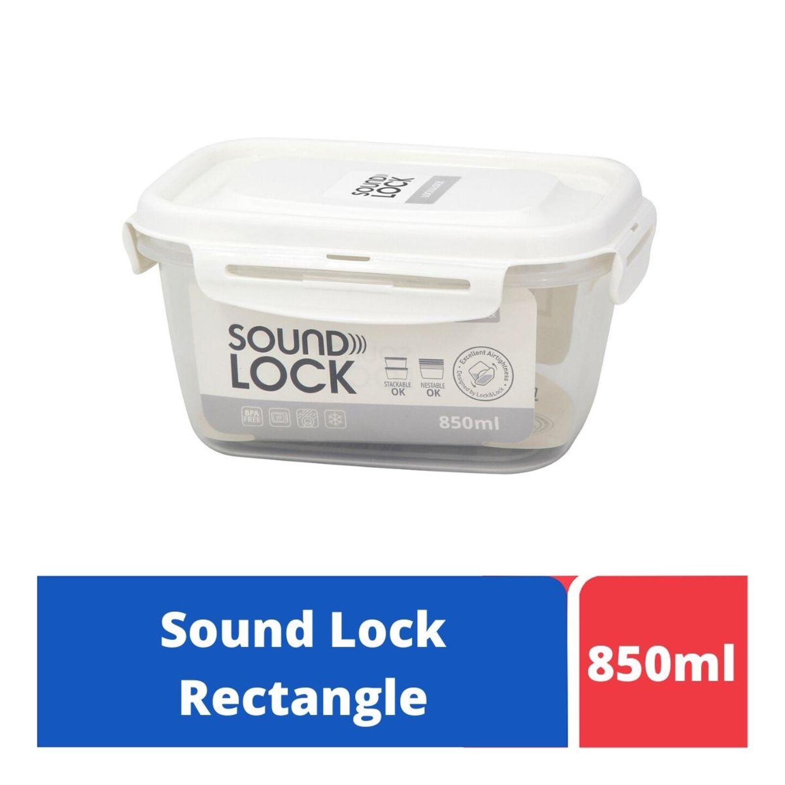 LOCK&LOCK Sound Lock Rect Food Container 850ml - White