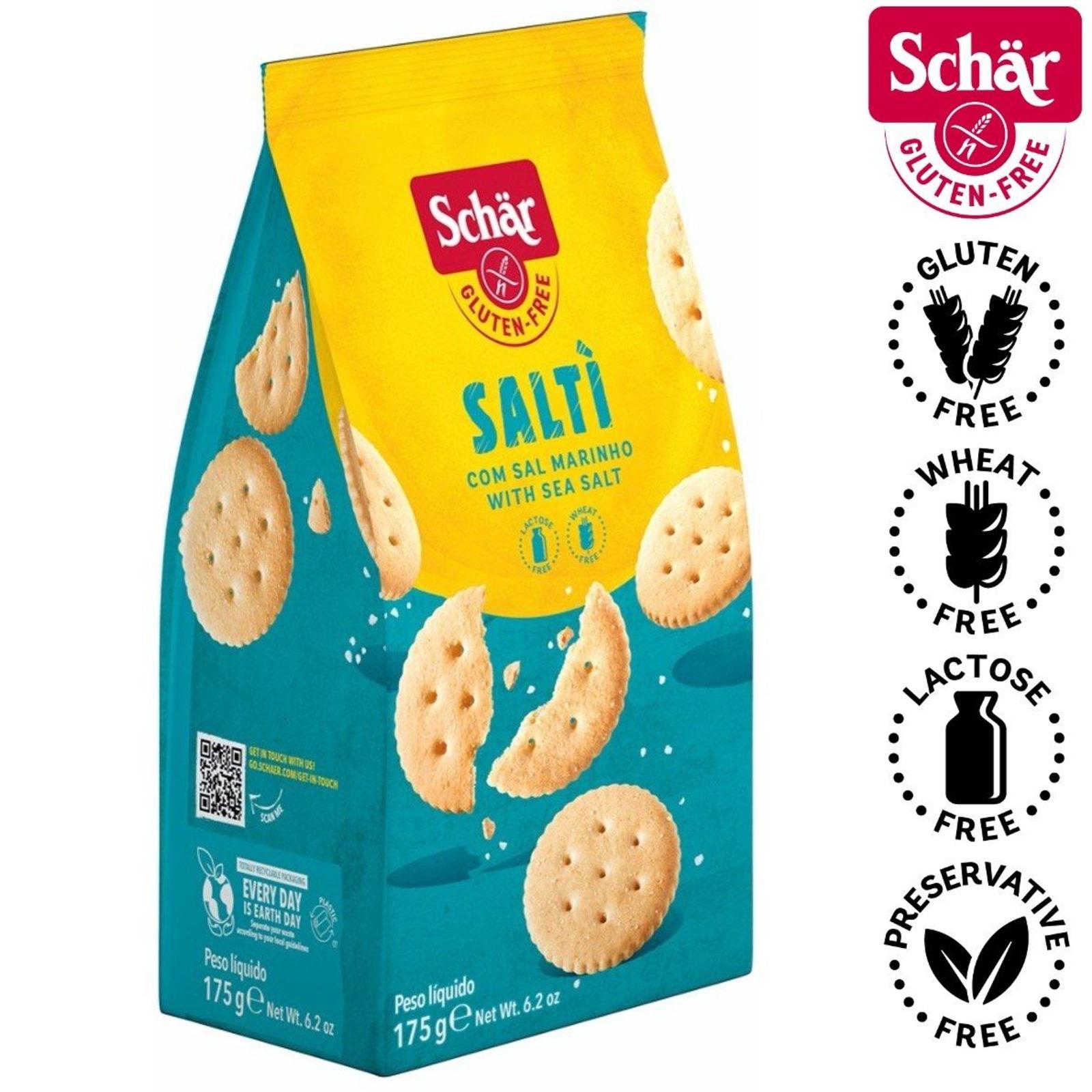 Dr. Schar Salti, Salted Crackers - Gluten Free