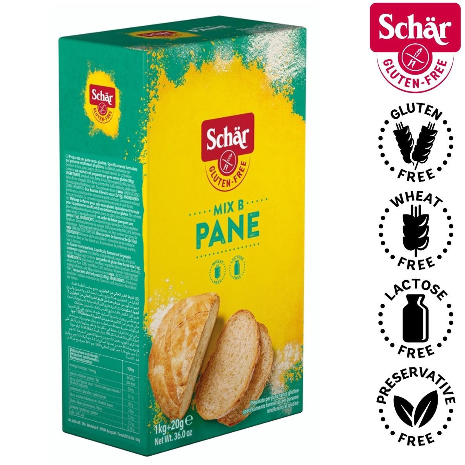 Dr. Schar Mix B Bread Mix with gluten free yeast-Gluten Free