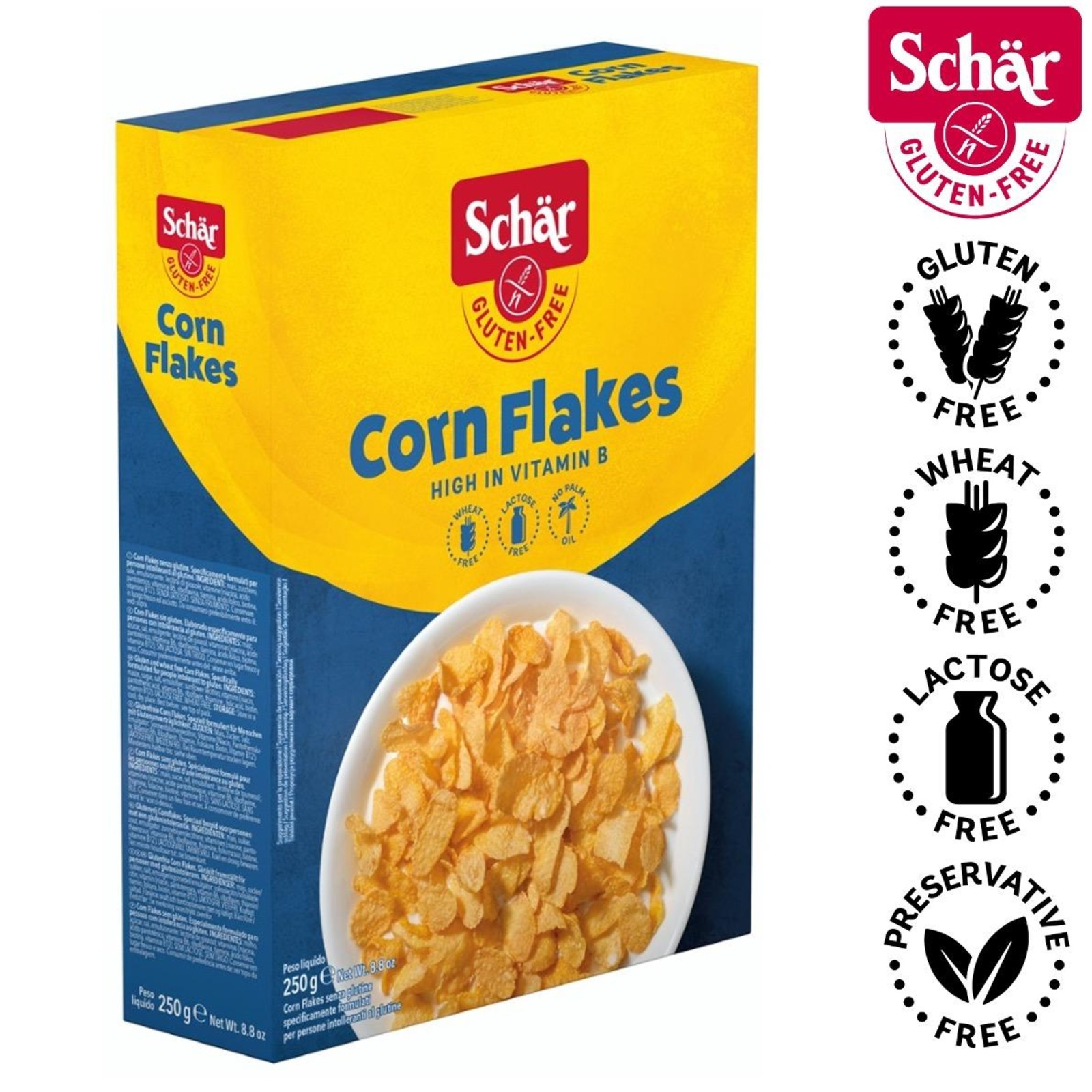 Dr. Schar Corn Flakes Breakfast Cereal - Gluten Free by Agora Products