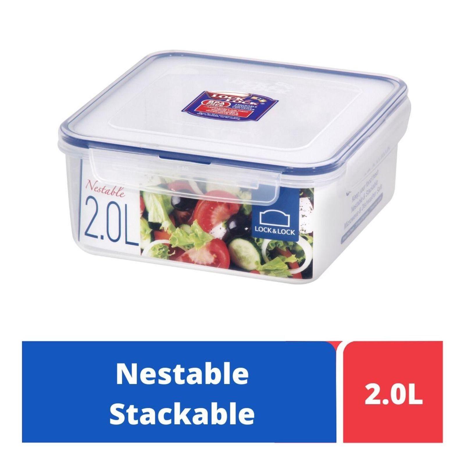 LOCK&LOCK Nestable Square Food Container 2.0L