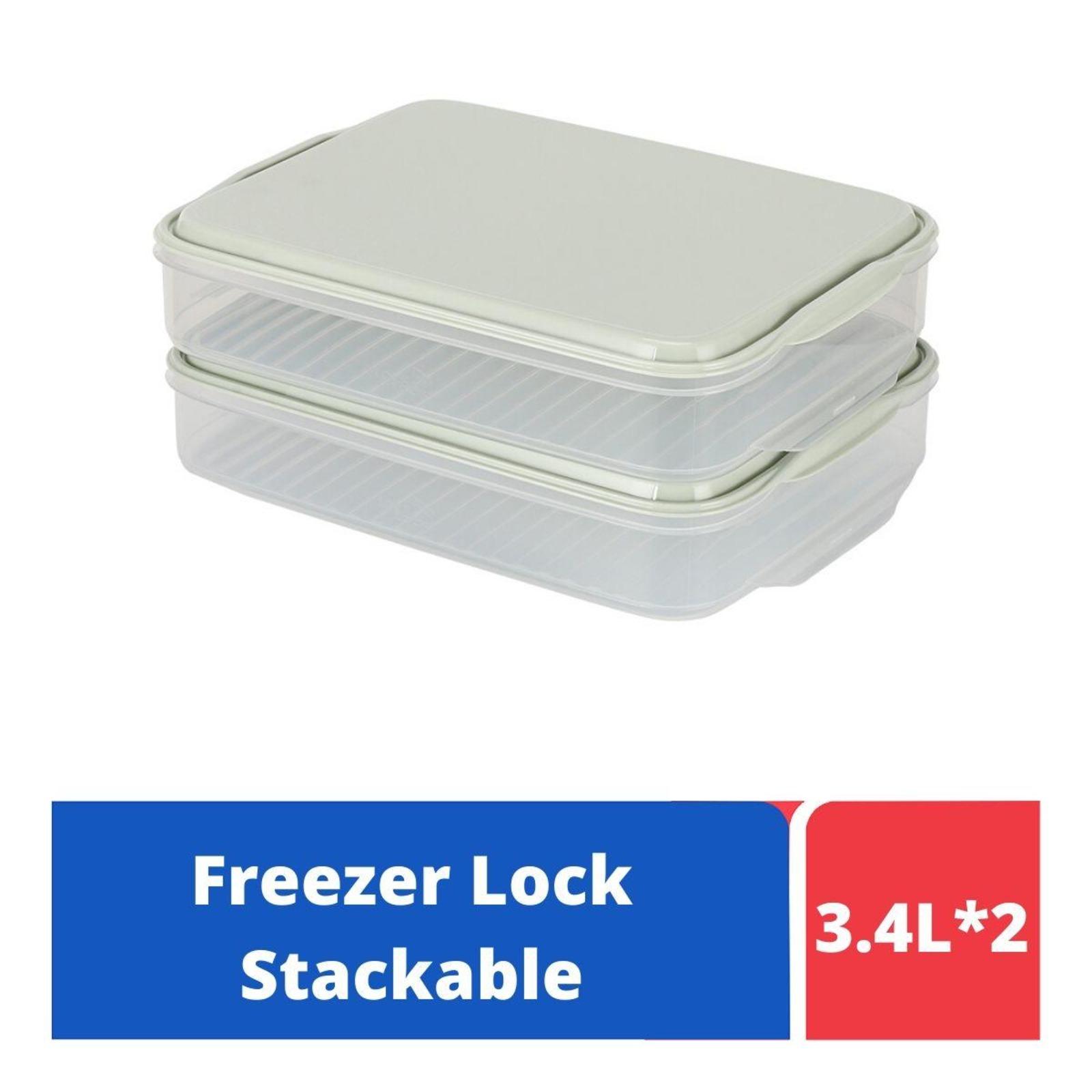 LOCK&LOCK Freezer Lock Container 2P Set Rect 3.4L - Mint
