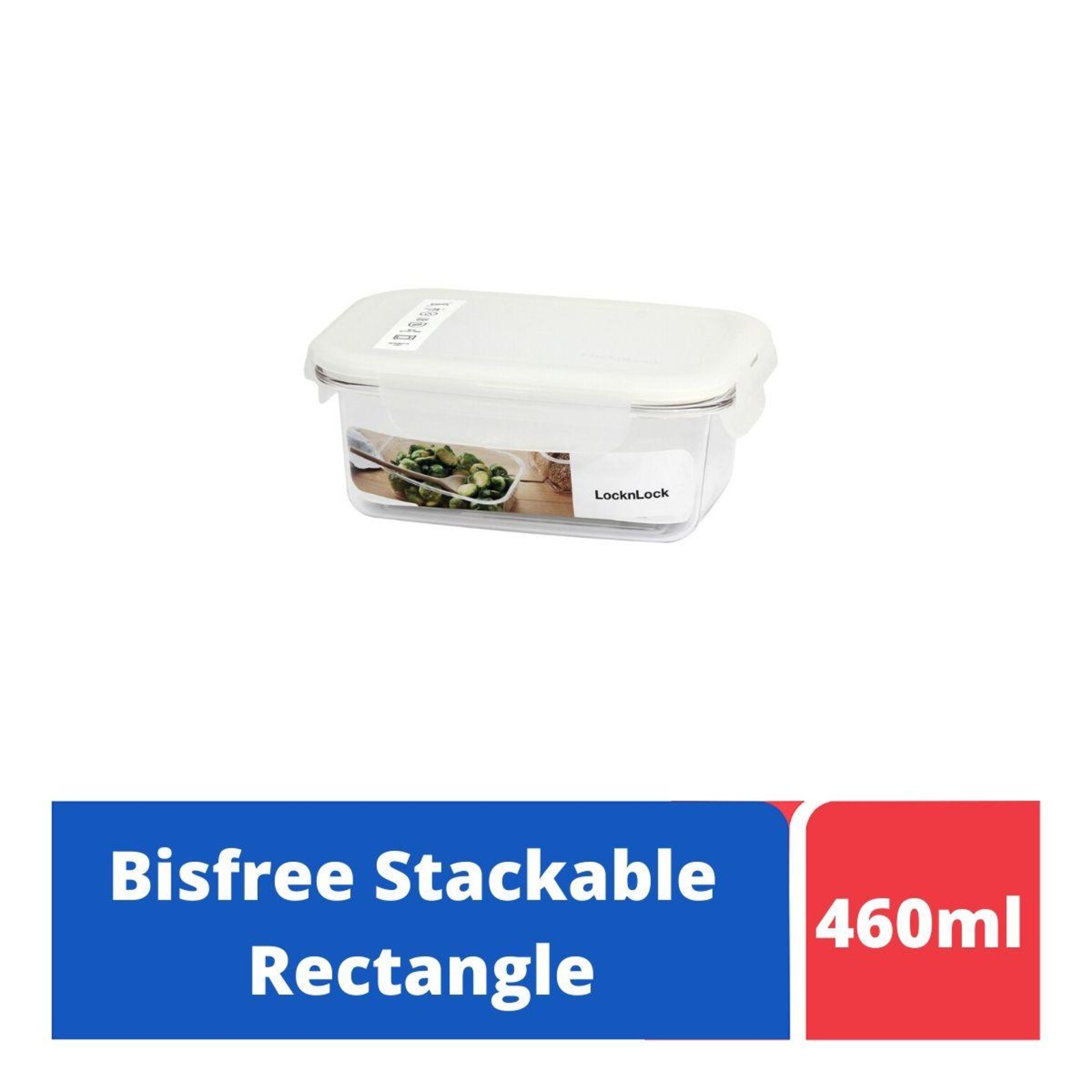 LOCK&LOCK Bisfree Table Top Rect Container 460ml - White