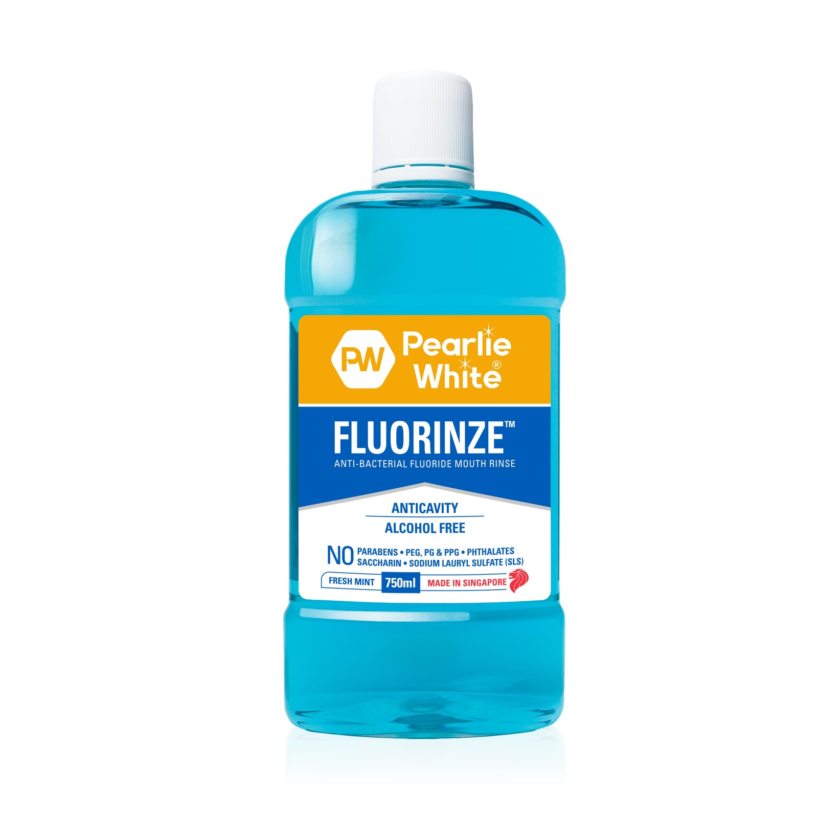 Pearlie White Fluorinze Alcohol Free Mouth Rinse