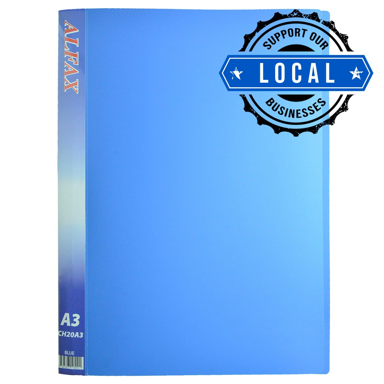 ALFAX CH20A3 Clear Holder 20 Pockets A3 Blue