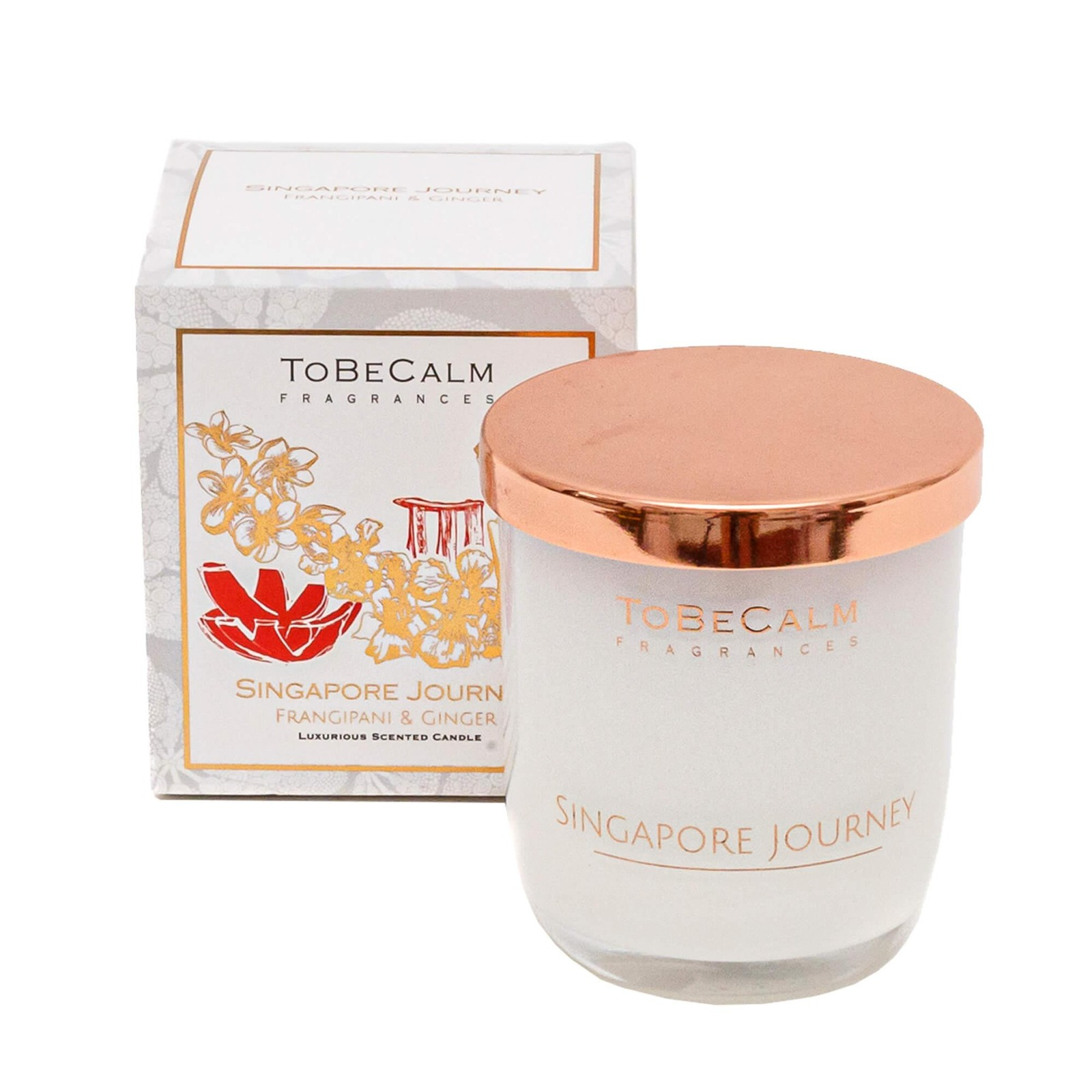To Be Calm Singapore Journey - Medium Soy Candle