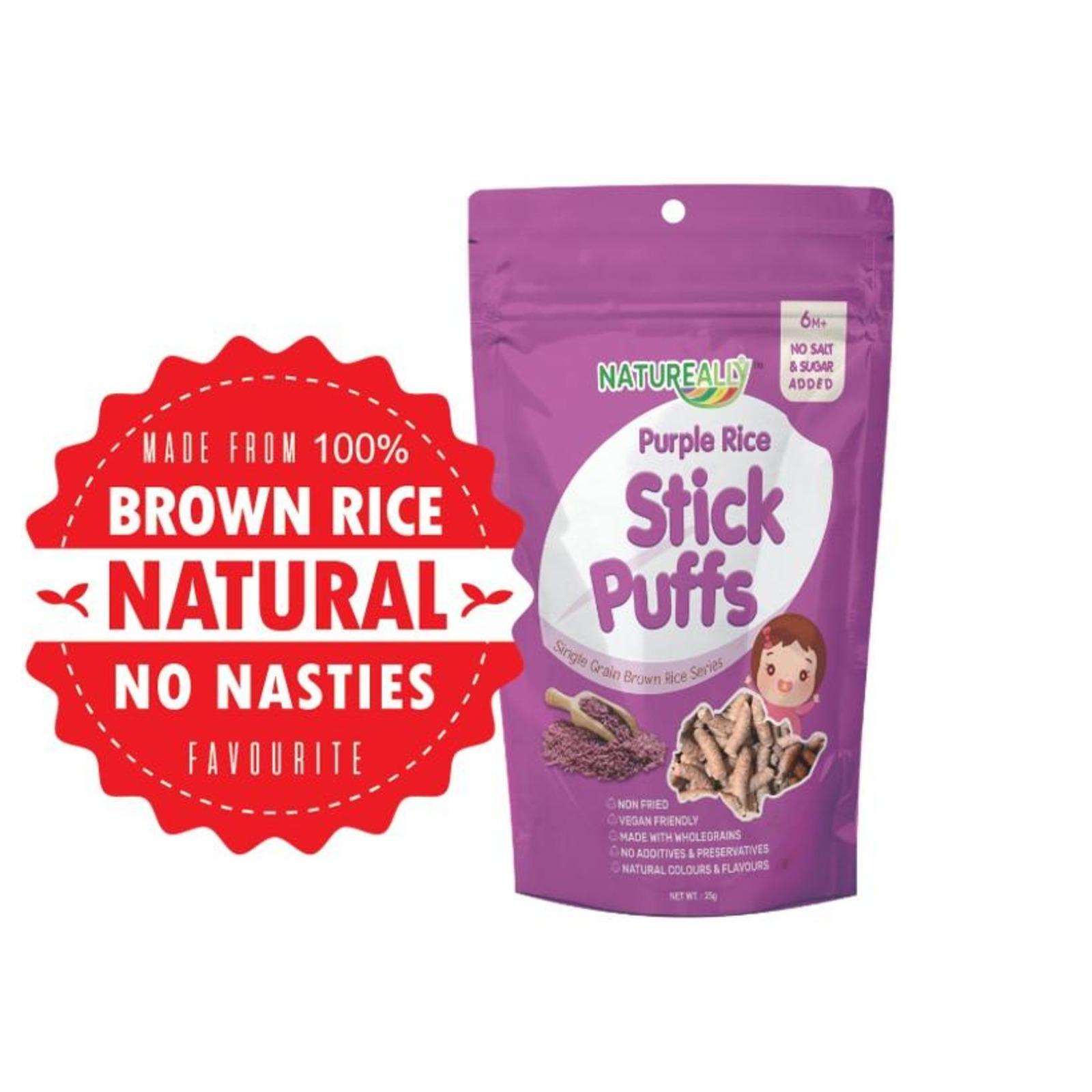 NATUREALLY Purple Rice Stick Puffs. 25g