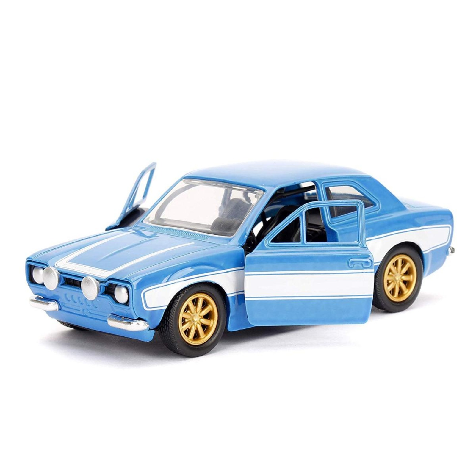 Jada 1970 Brian's Ford Escort Blue with White Stripes