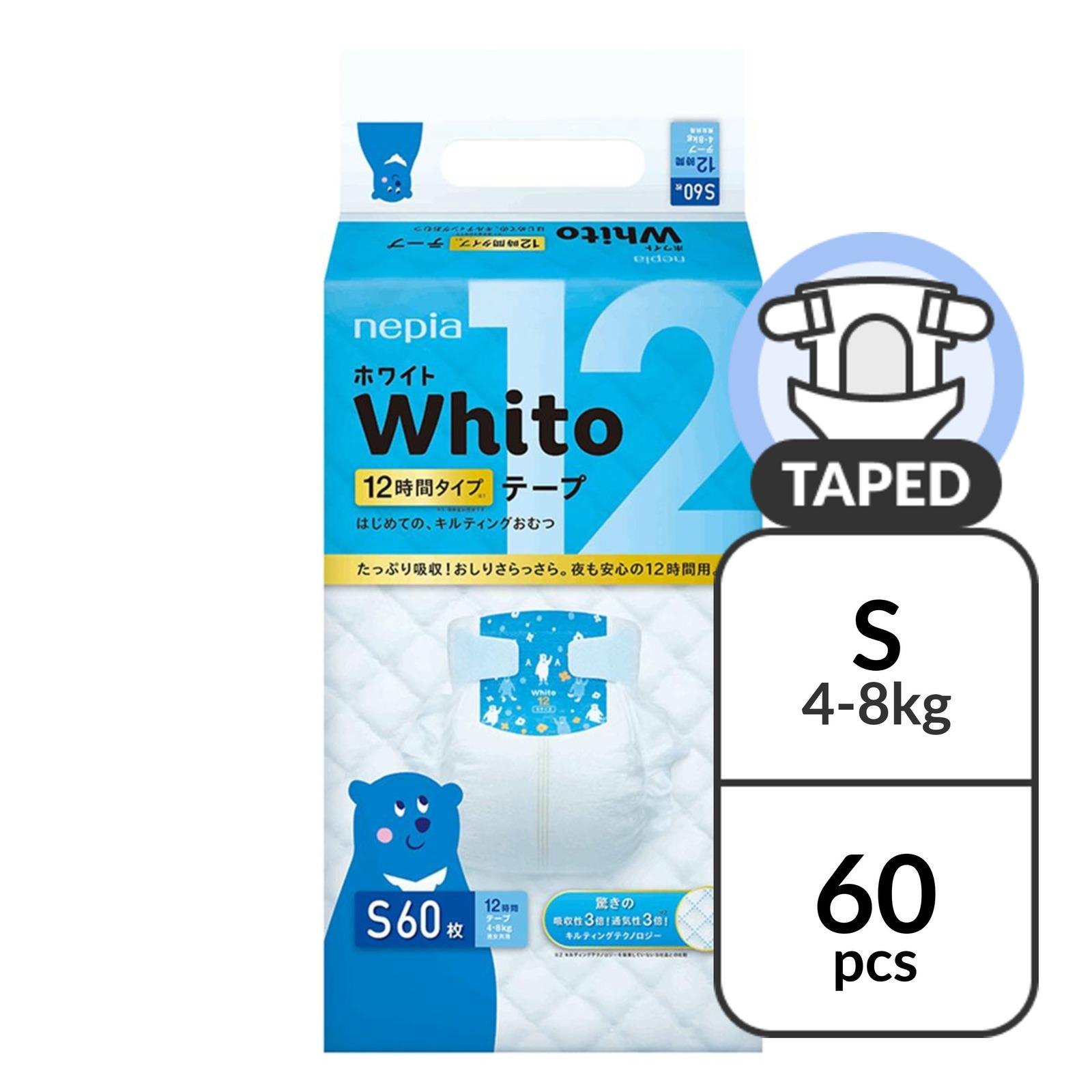 NEPIA Whito Tape S 12H - (4-8kg) 60 pc