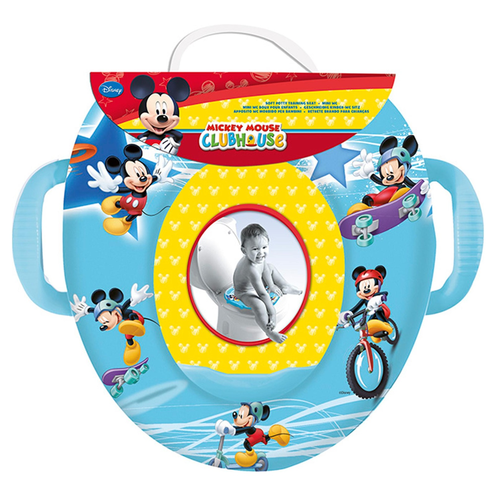 Caredyn Soft Potty Seat with Handles - Mickey Blue