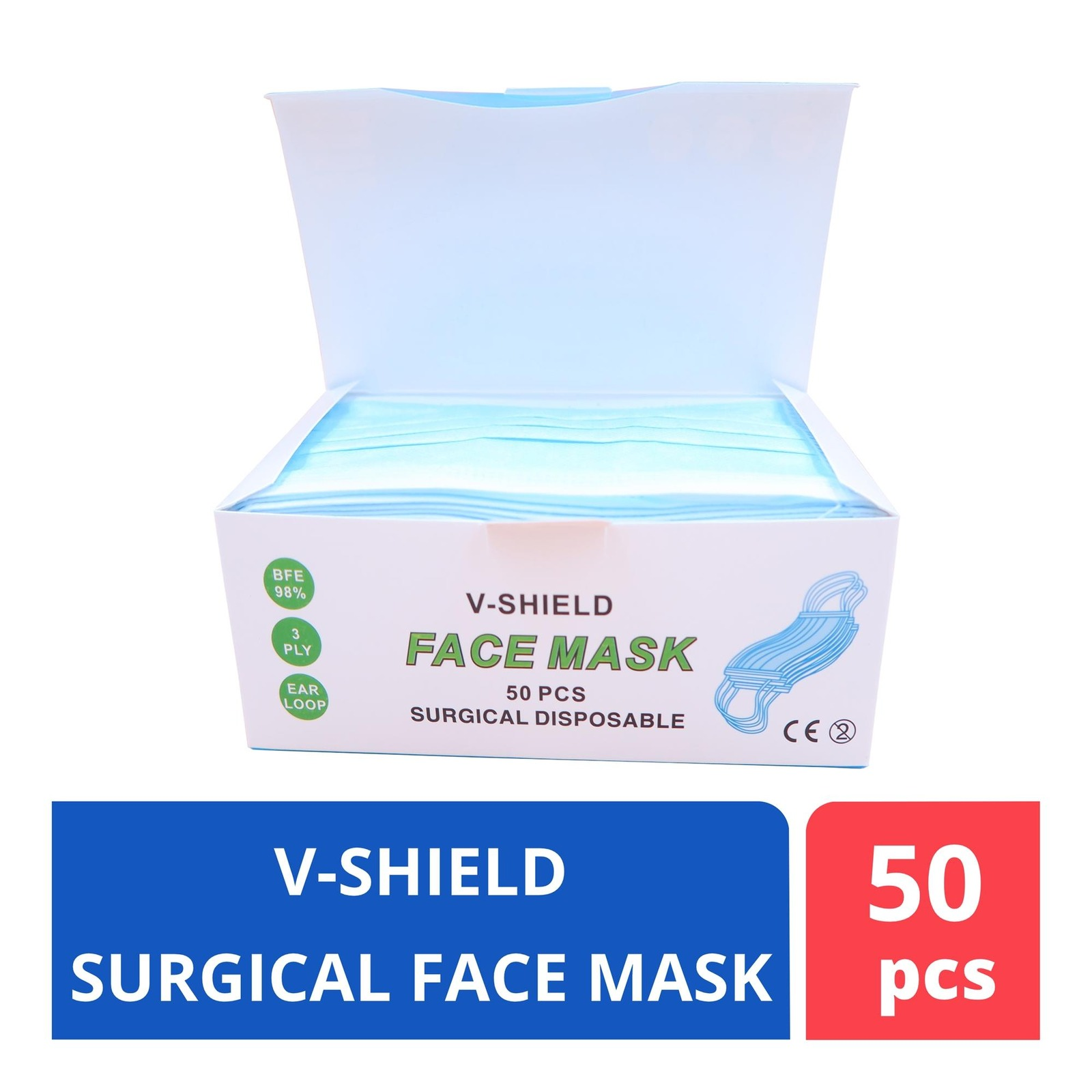 ALCARE Surgical Face Mask 3Ply - Generic box