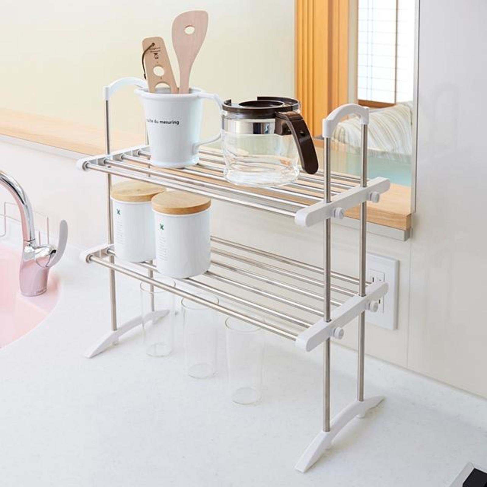 HEIAN SHINDO 2 Tier Kitchen Storage Rack TOS-10 S/S