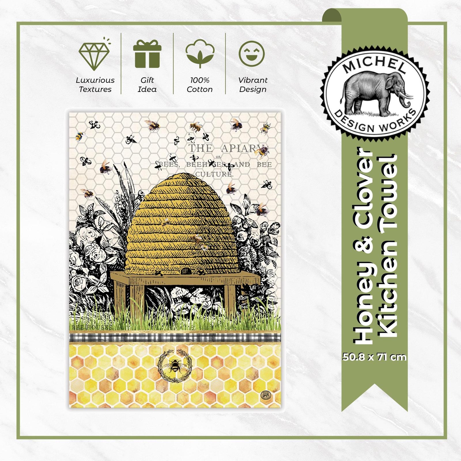 Michel Design Works Kitchen Towel - Honey & Clover