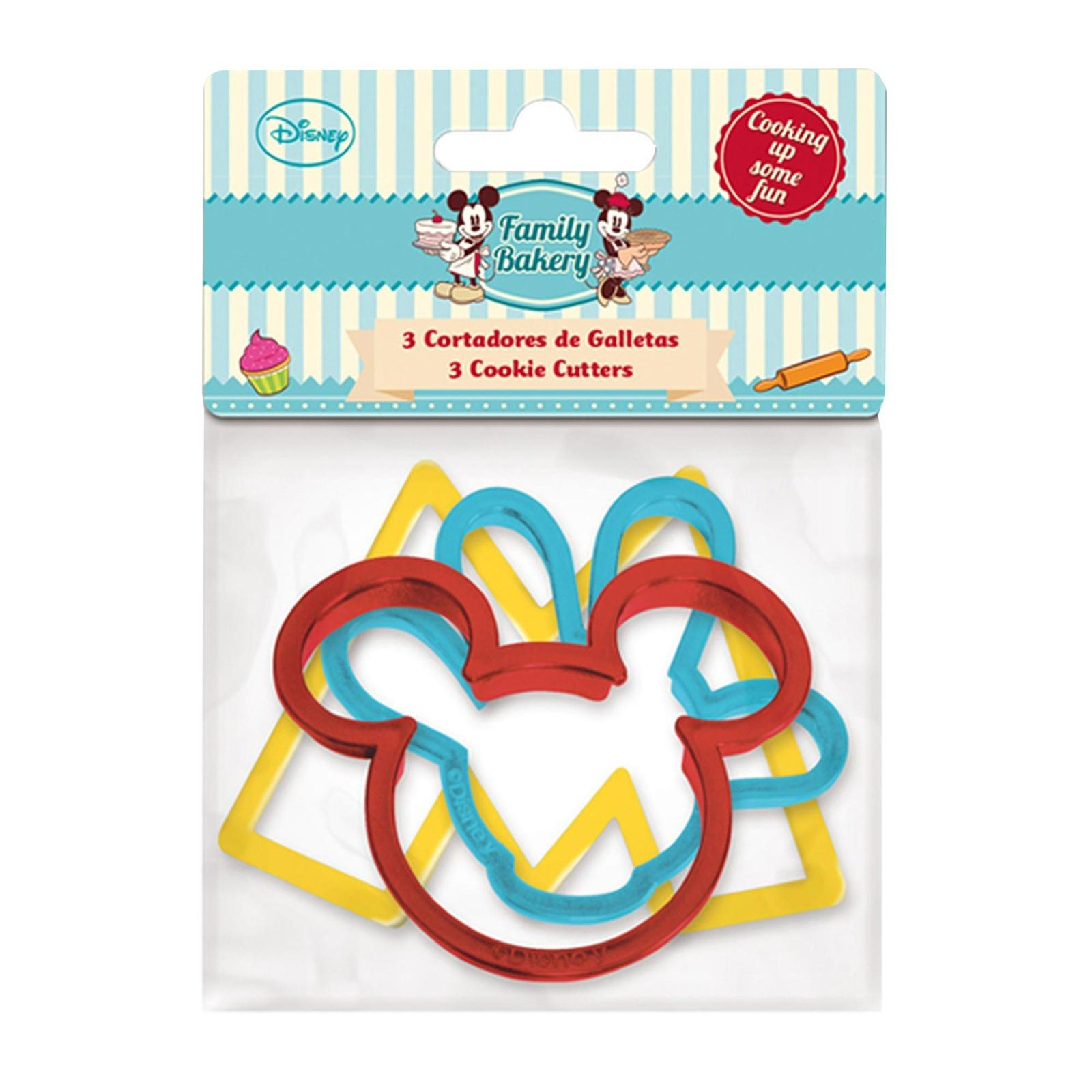Disney Genuine Mickey Set Of 3 Cookie Cutters