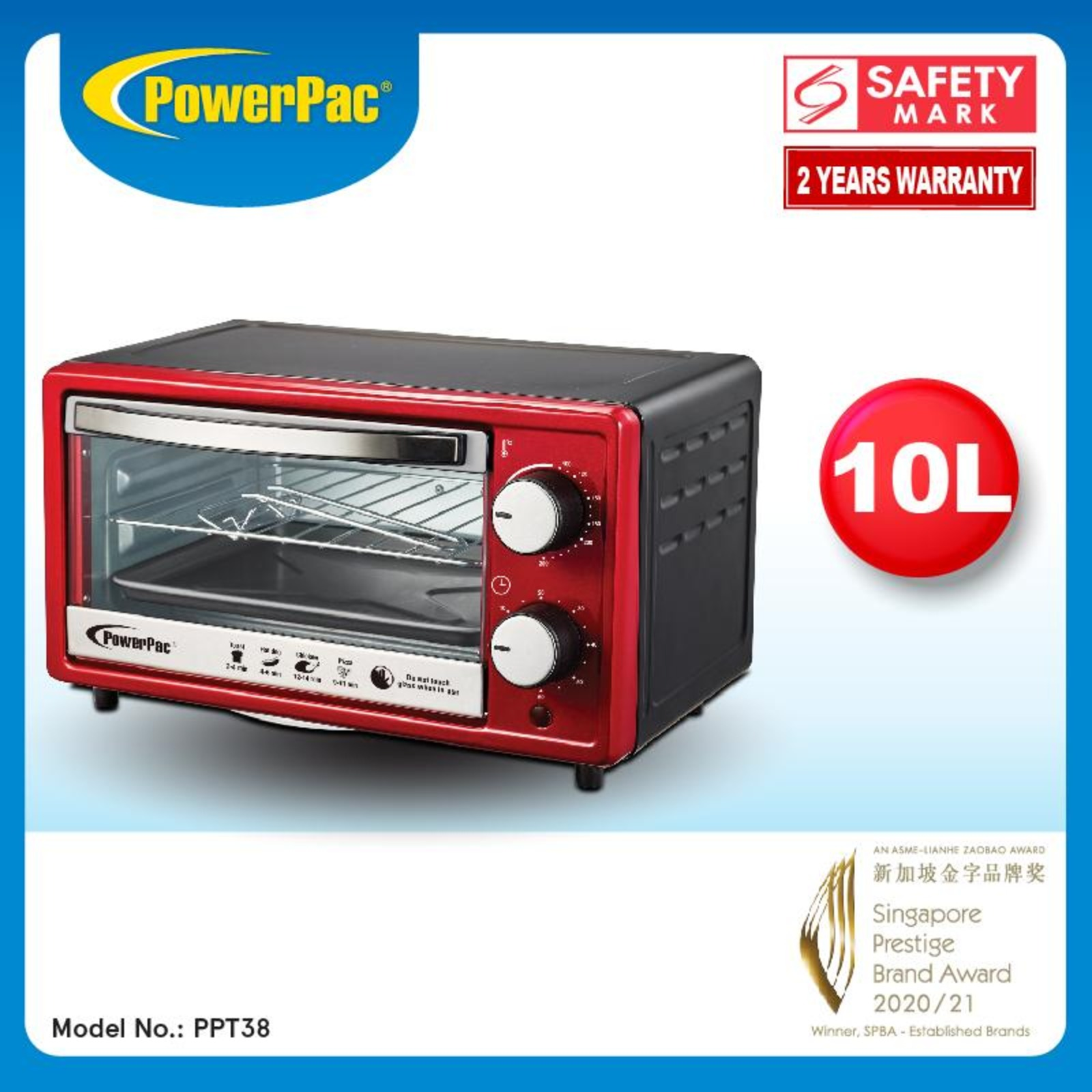 PowerPac (PPT38) 10L Electric Oven