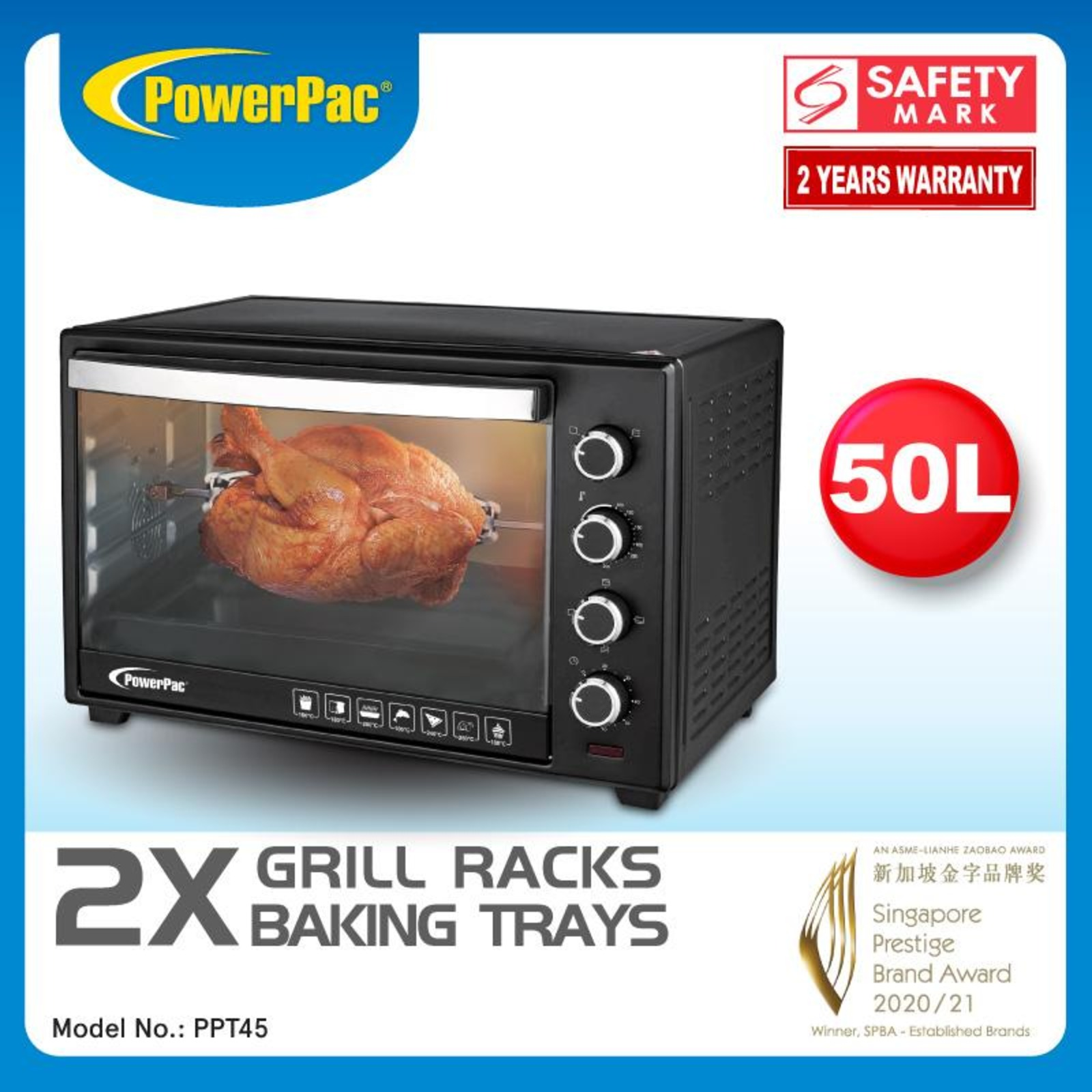 PowerPac (PPT45) 45L Electric Oven