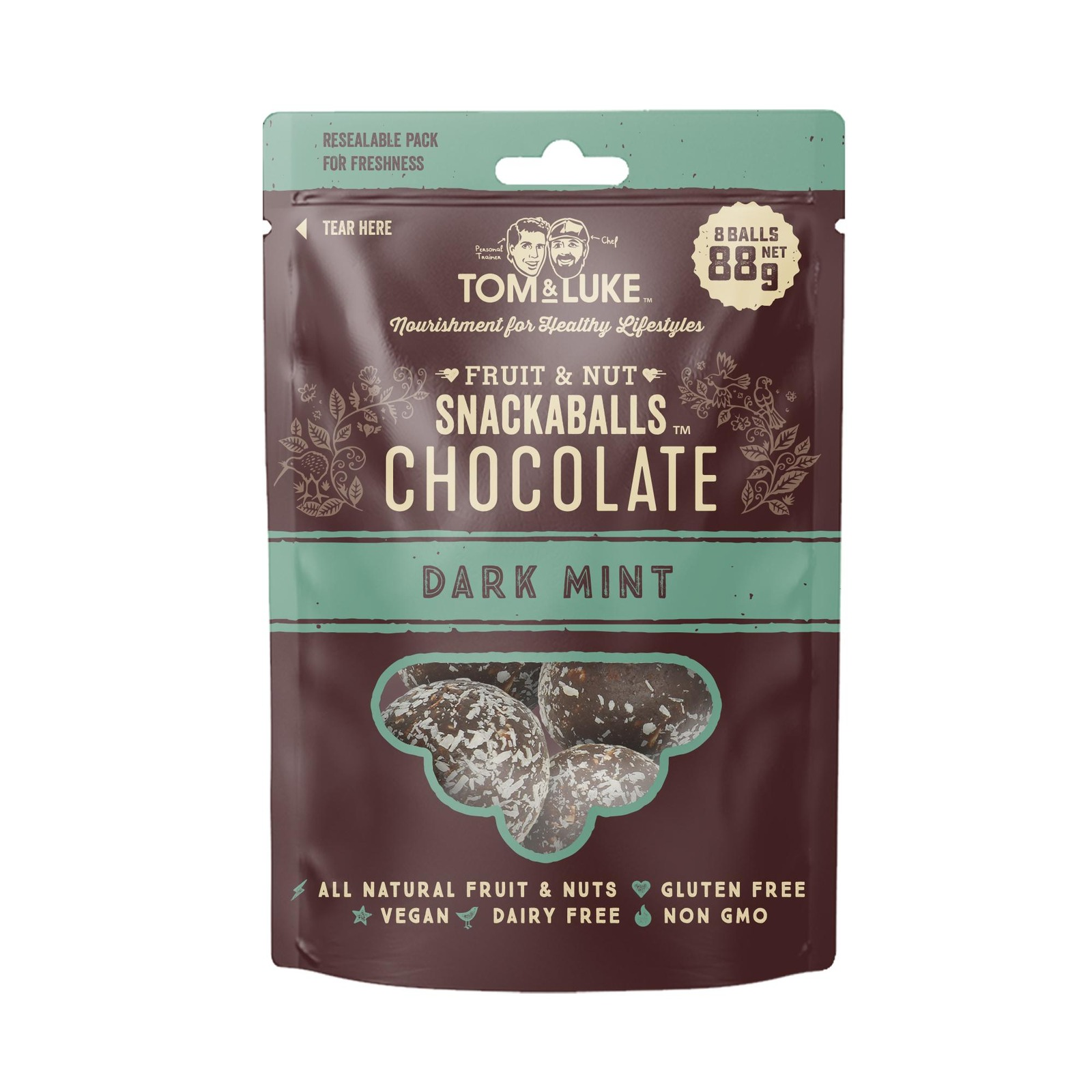 Tom & Luke Snackaball - Dark Chocolate Mint