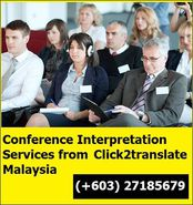Conference interpretation services from click2translate Malaysia