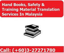 Lyric offers Hand Books, Safety & Training Material Translation Services