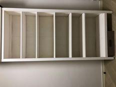 2x IKEA solid wood bookshelf