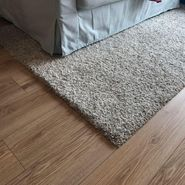 95% new soft, high pile, durable, IKEA beige colour Rug! (used less than 1 year! )
