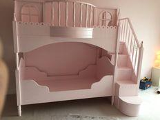 Custom Solid Wood Loft Bunk Bed For Girls 4 $ale
