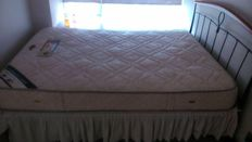 Double bed frame with Slumberland mattress