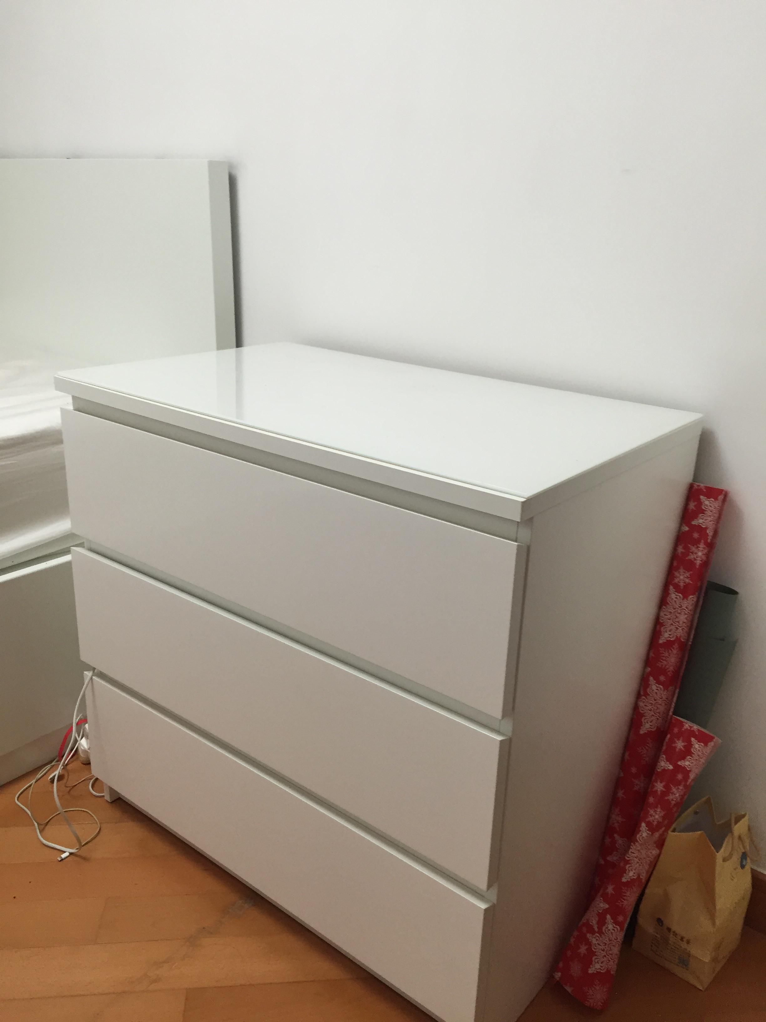Drawer Chest Of 3 Ikea Quot Malm Chest Of 3 Quot Secondhand Hk