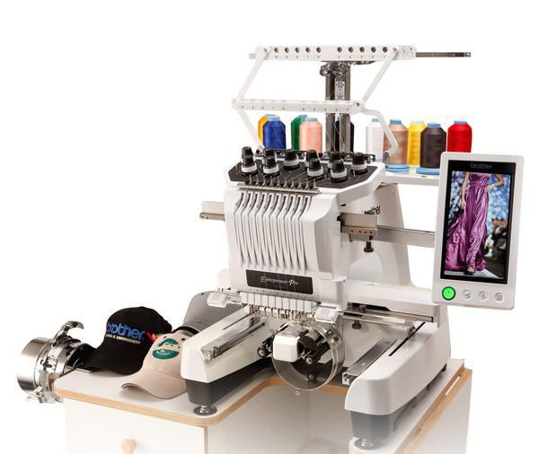 for sale brother pr1000e entrepreneur 10 needle embroidery machine. Black Bedroom Furniture Sets. Home Design Ideas
