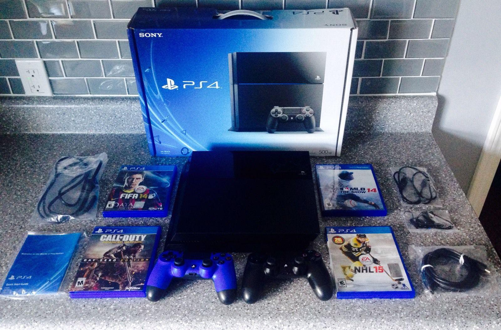 sony ps4 console. for sale sony ps4 console with 4 extra free games $200 ps4