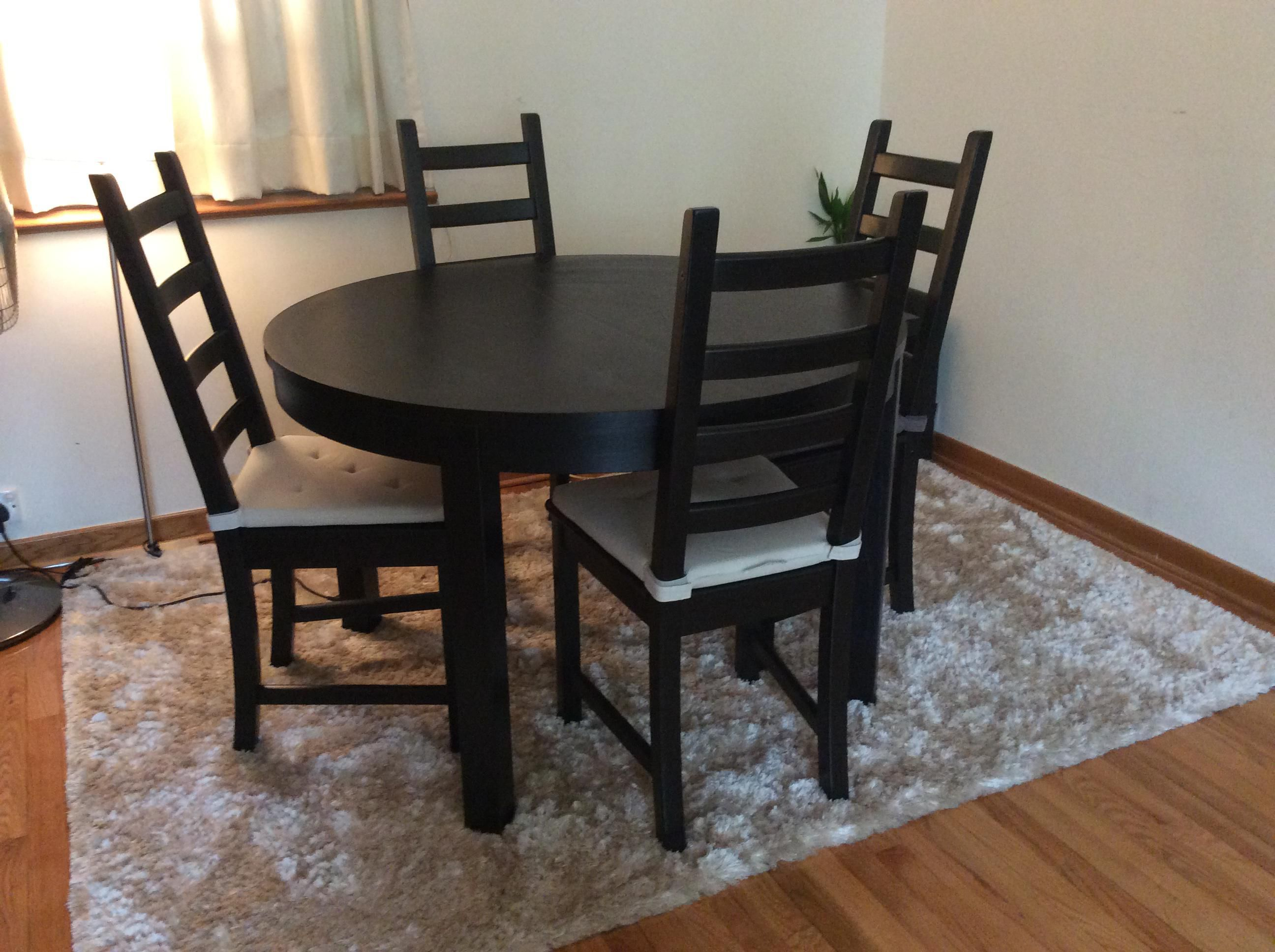 Ikea Bjursta Extendable Table And 4 Chairs Secondhand Hk