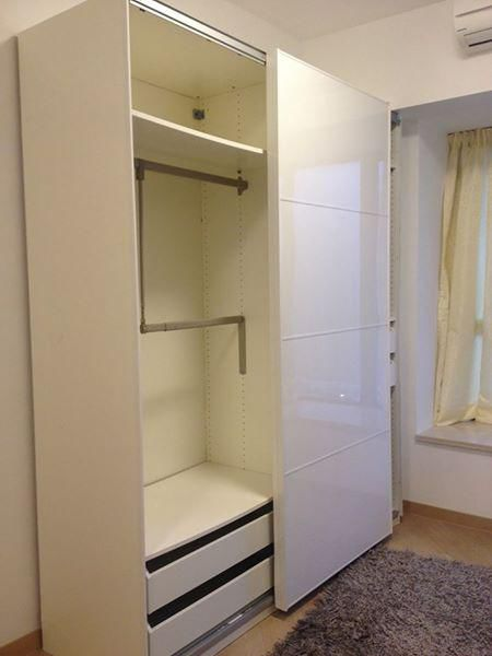 ikea pax wardrobe with sliding door